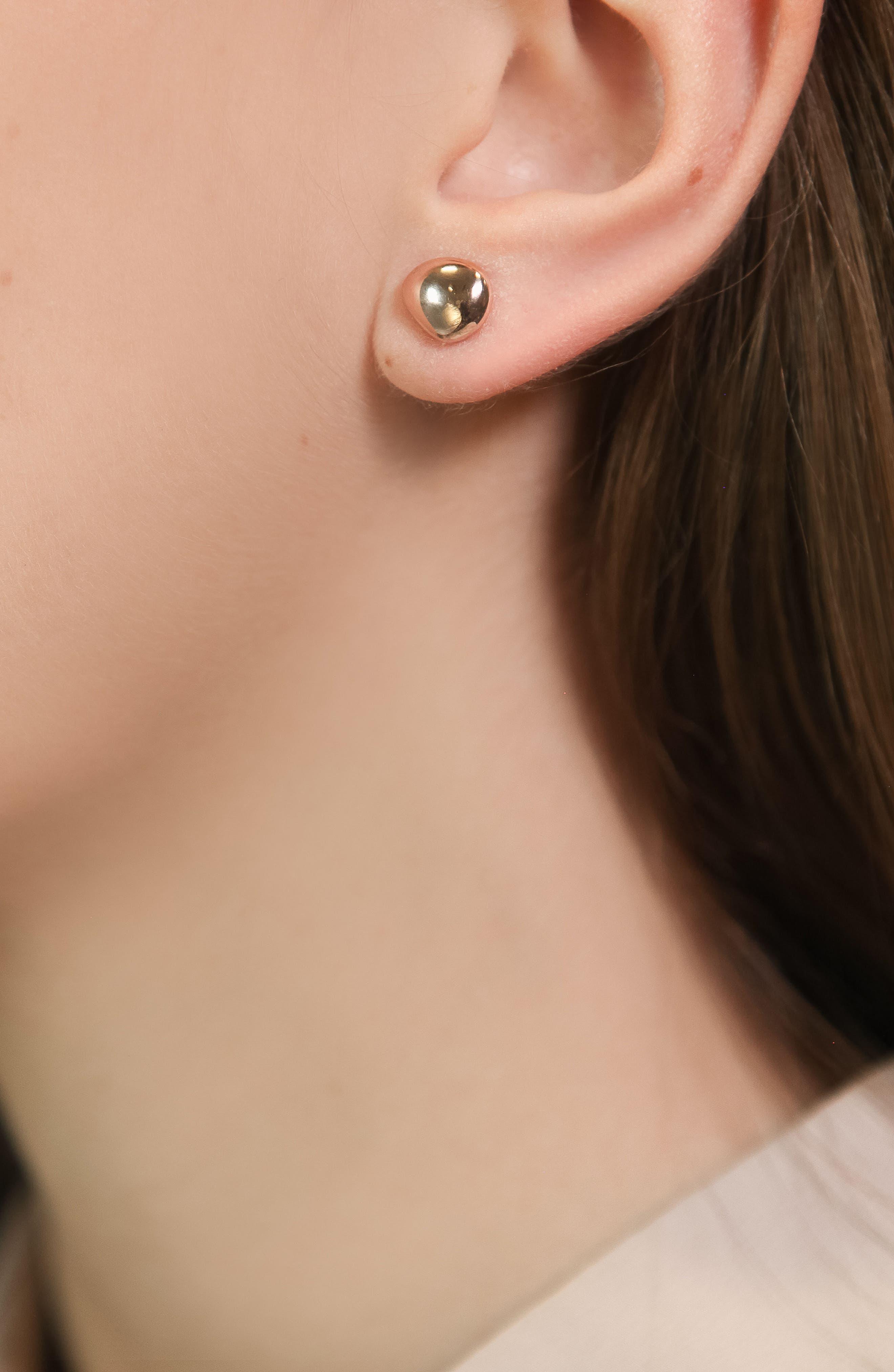 Nura Small Pebble Stud Earrings,                             Alternate thumbnail 2, color,                             ROSE GOLD