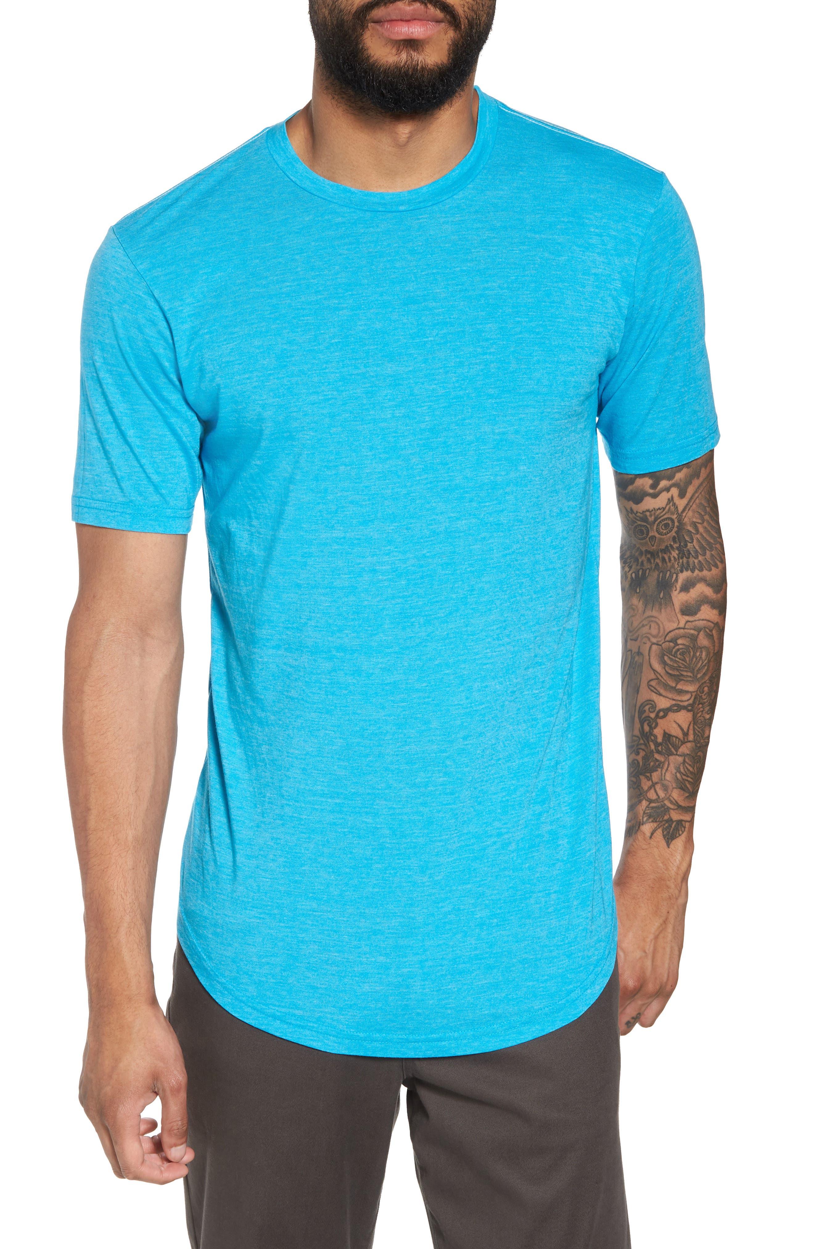 Scallop Triblend Crewneck T-Shirt,                         Main,                         color, BLUE DANUBE