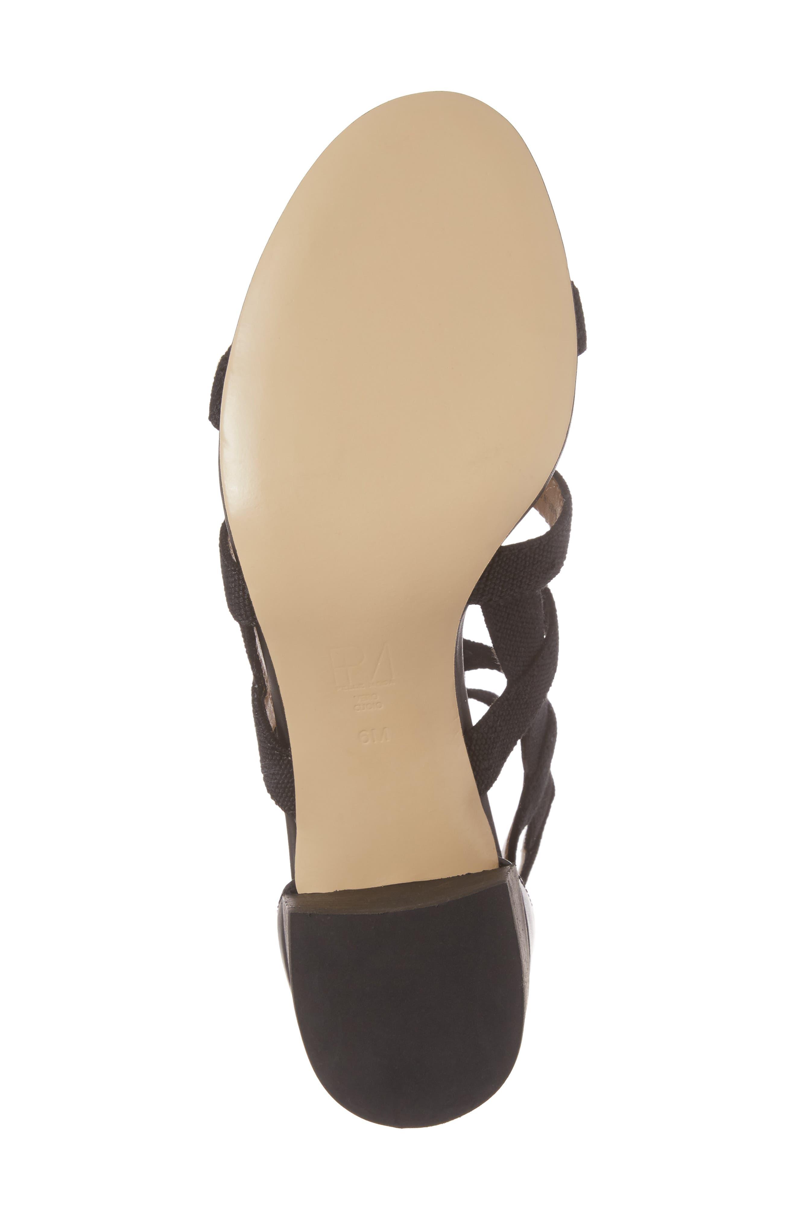 Unkar Block Heel Sandal,                             Alternate thumbnail 6, color,                             001