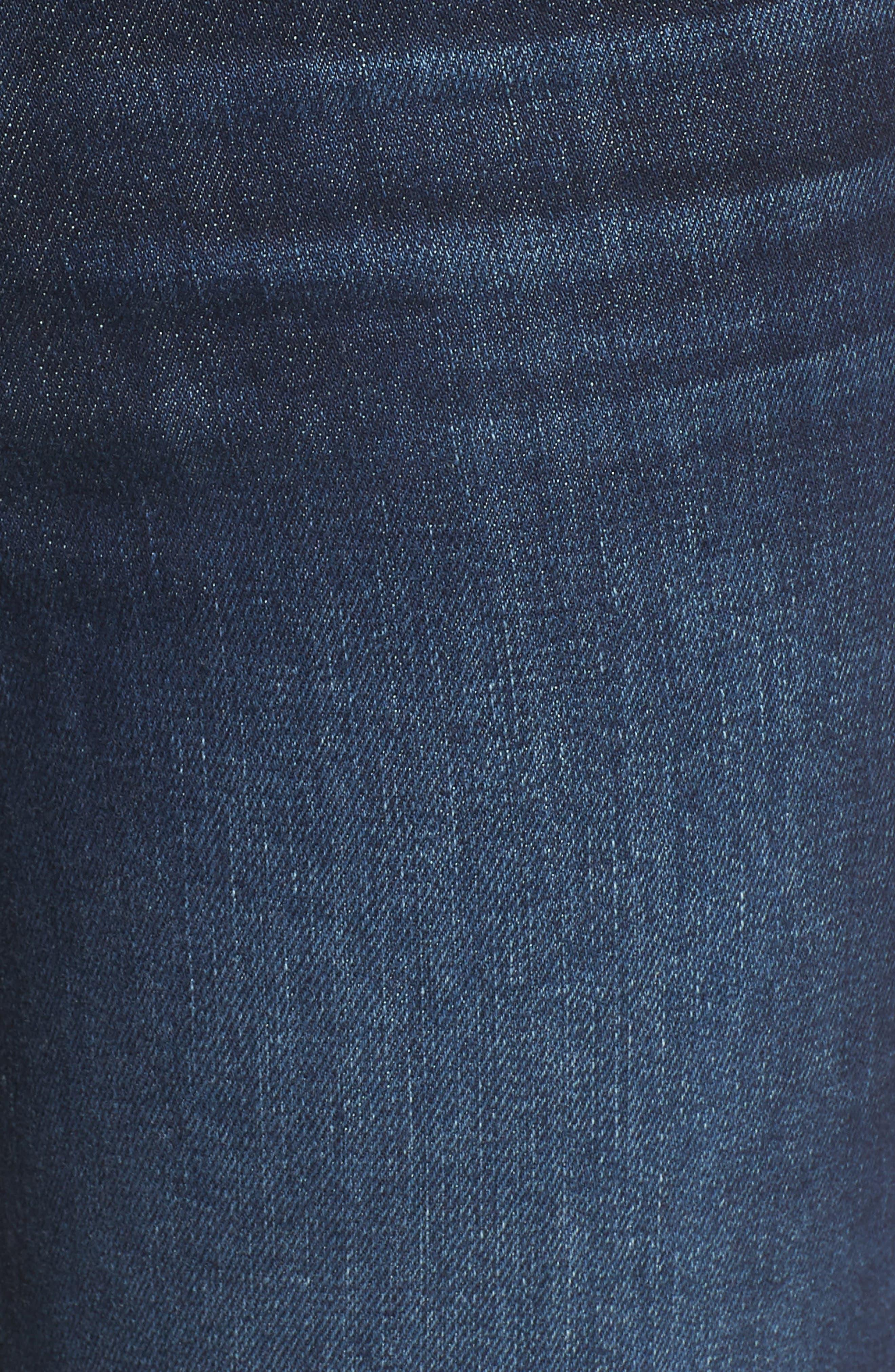 Hoxton Transcend Vintage High Waist Crop Straight Leg Jeans,                             Alternate thumbnail 5, color,                             400