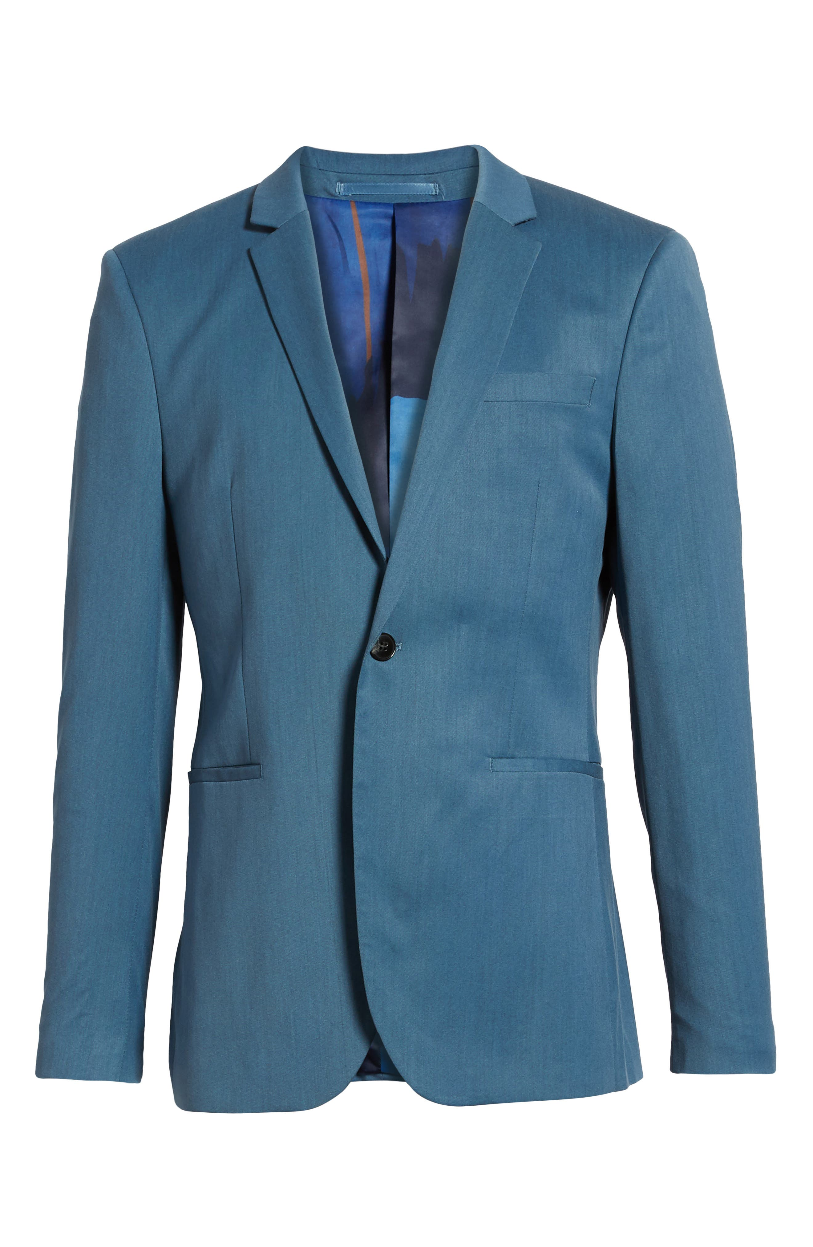 Skinny Fit Suit Jacket,                             Alternate thumbnail 5, color,                             450