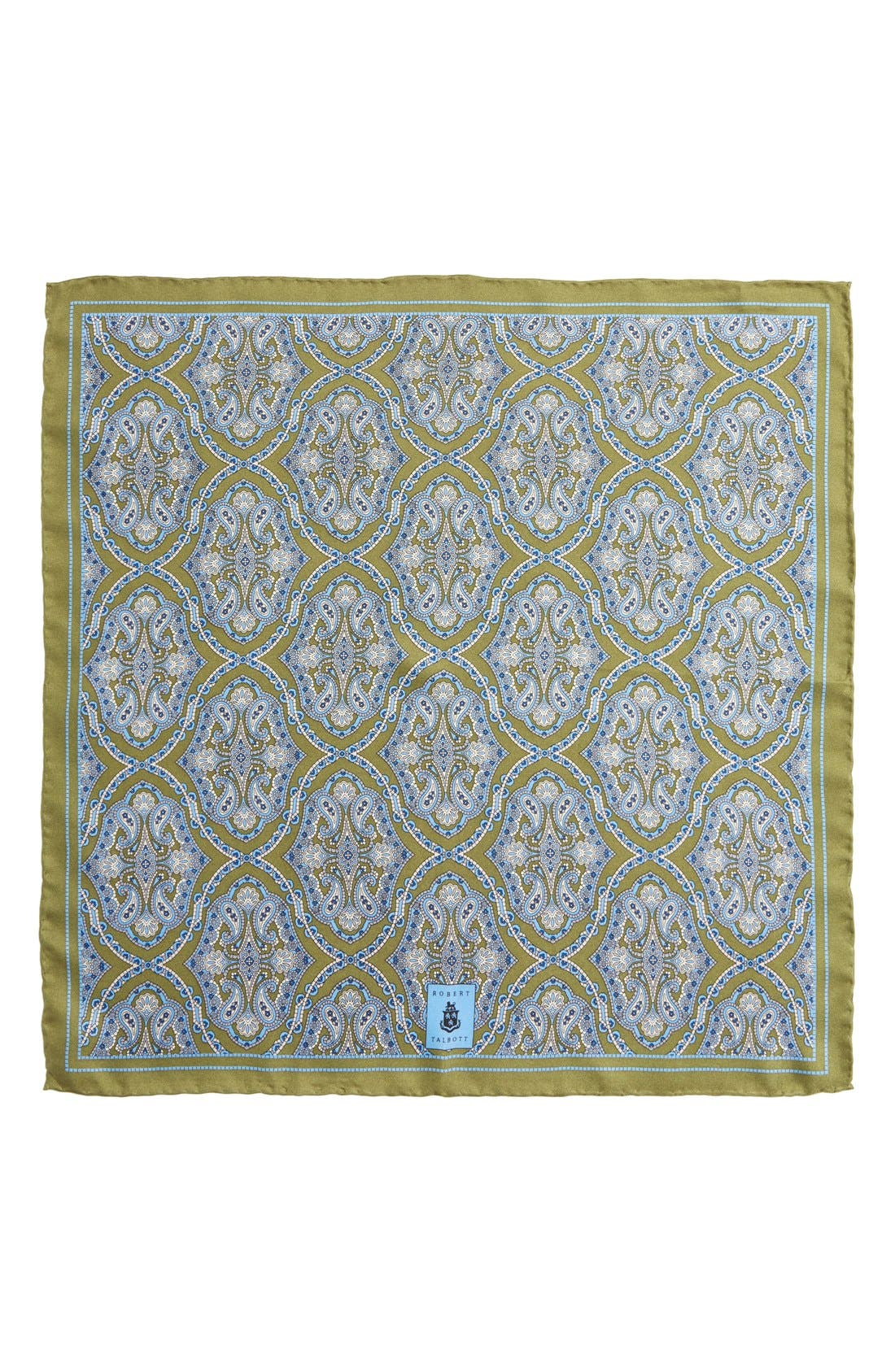 Medallion Silk Pocket Square,                             Alternate thumbnail 13, color,