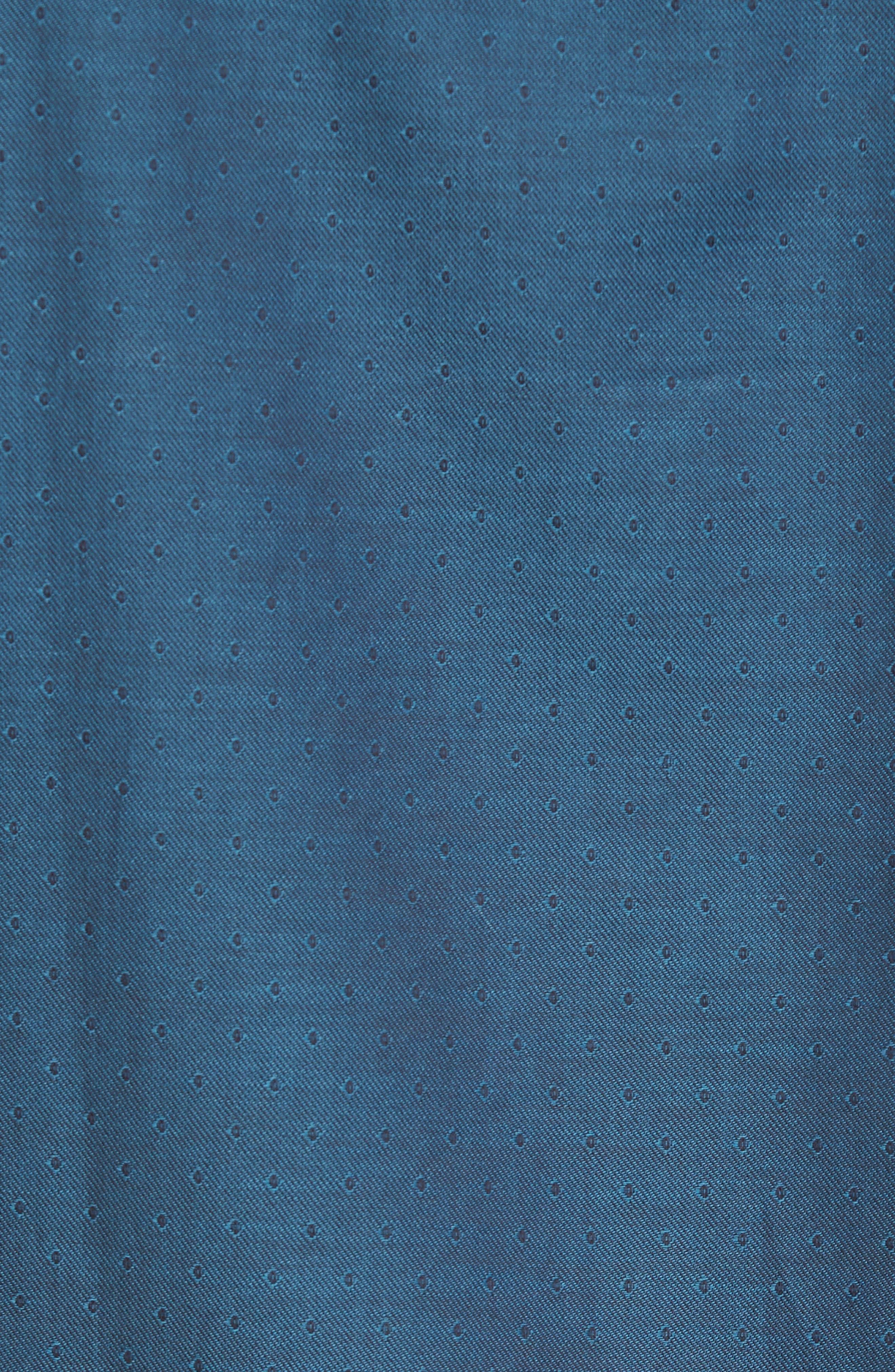 Slim Fit Diamond Twill Sport Shirt,                             Alternate thumbnail 5, color,                             TEAL