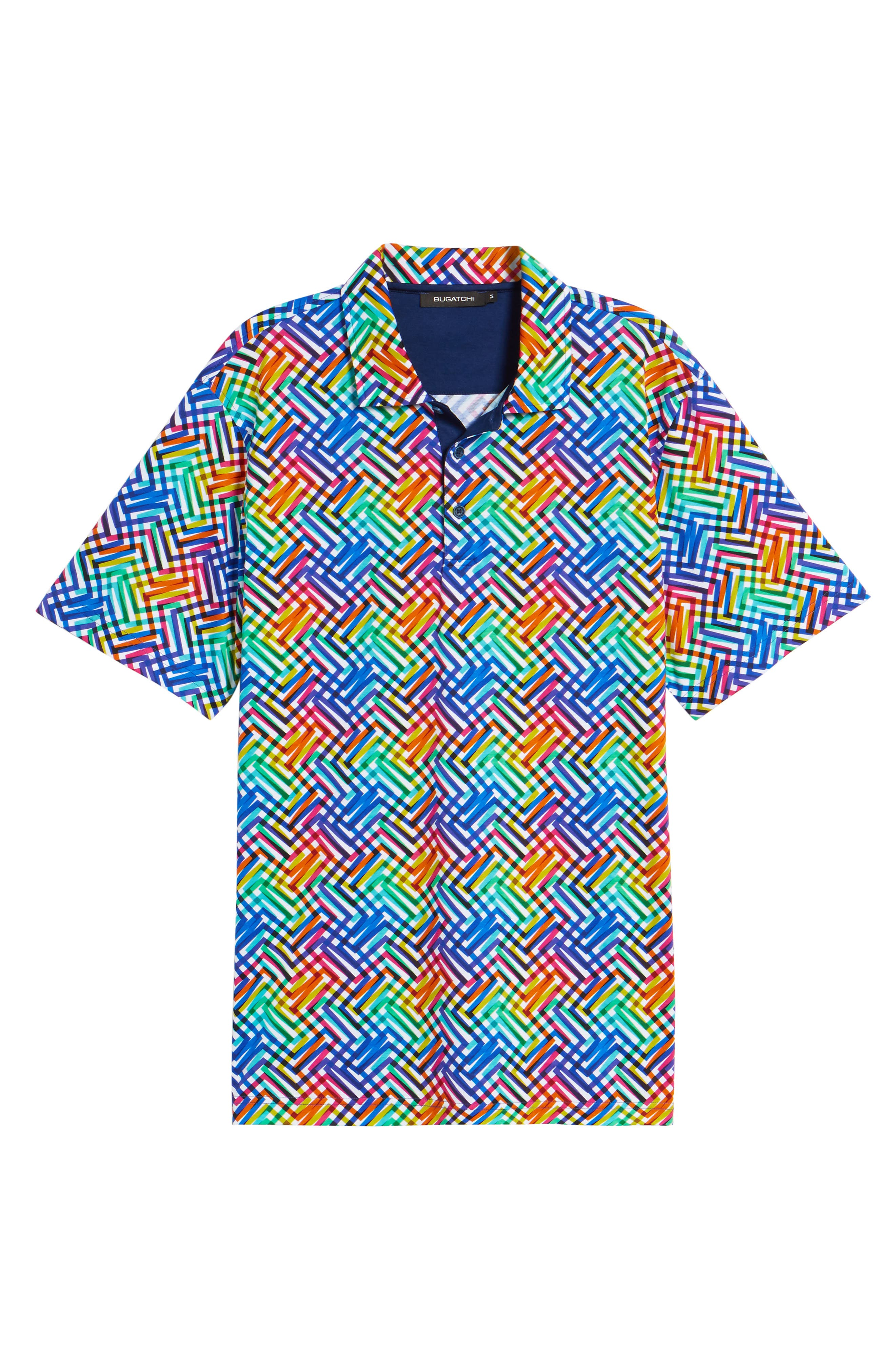 BUGATCHI,                             Regular Fit Knit Polo,                             Alternate thumbnail 6, color,                             CANDY