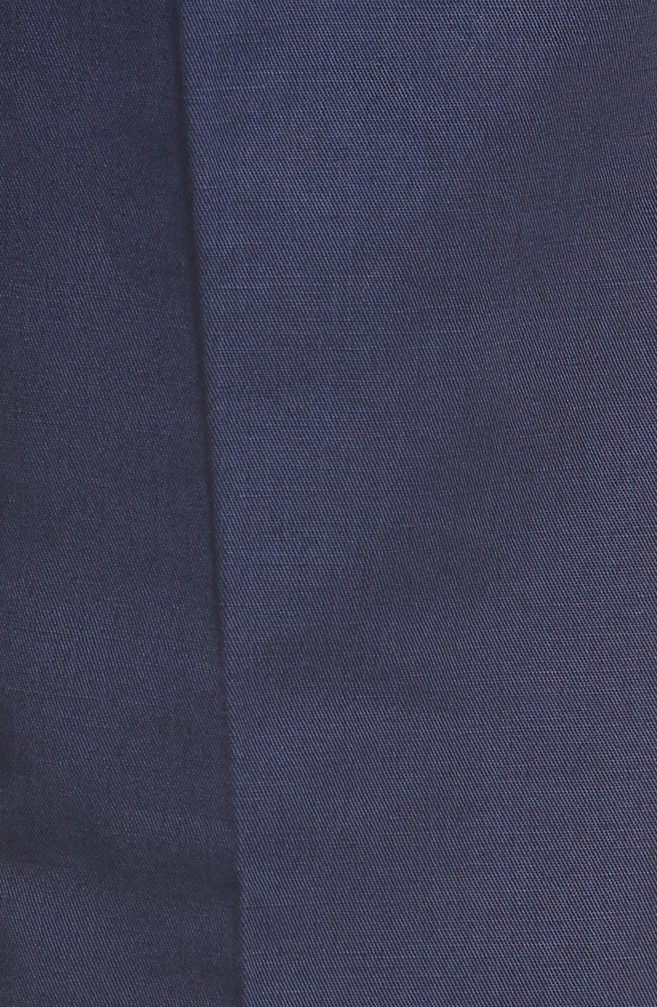 Flat Front Solid Cotton & Linen Trousers,                             Alternate thumbnail 8, color,