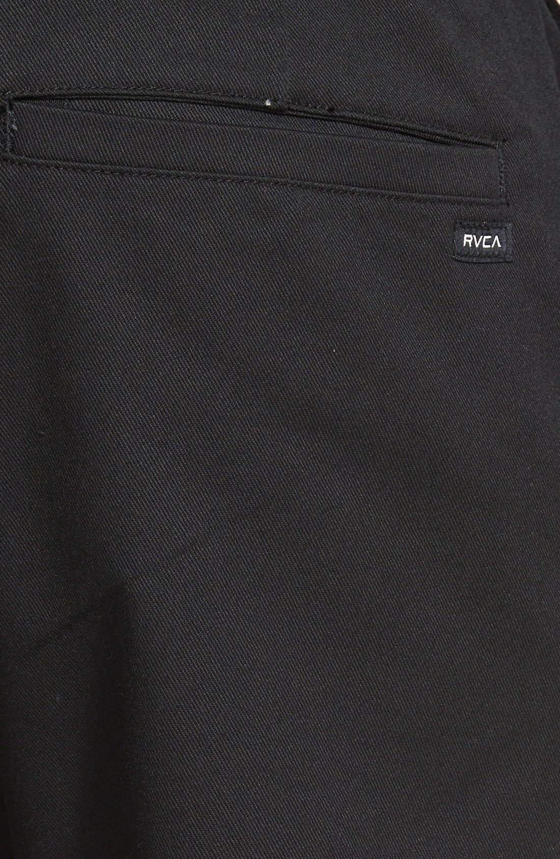 'The Week-End' Slim Straight Leg Stretch Twill Chinos,                             Alternate thumbnail 3, color,                             BLACK