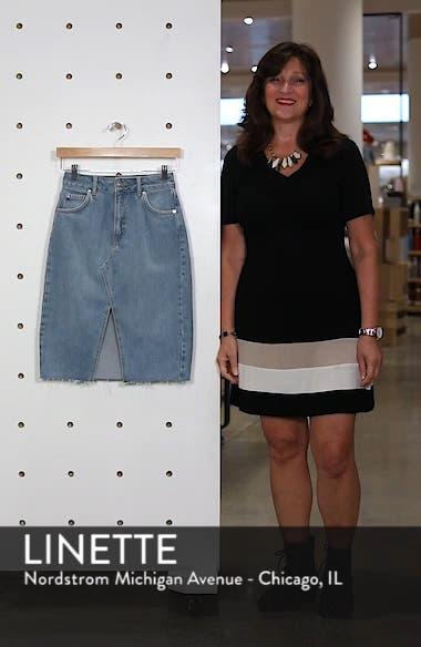 Denim Midi Skirt, sales video thumbnail
