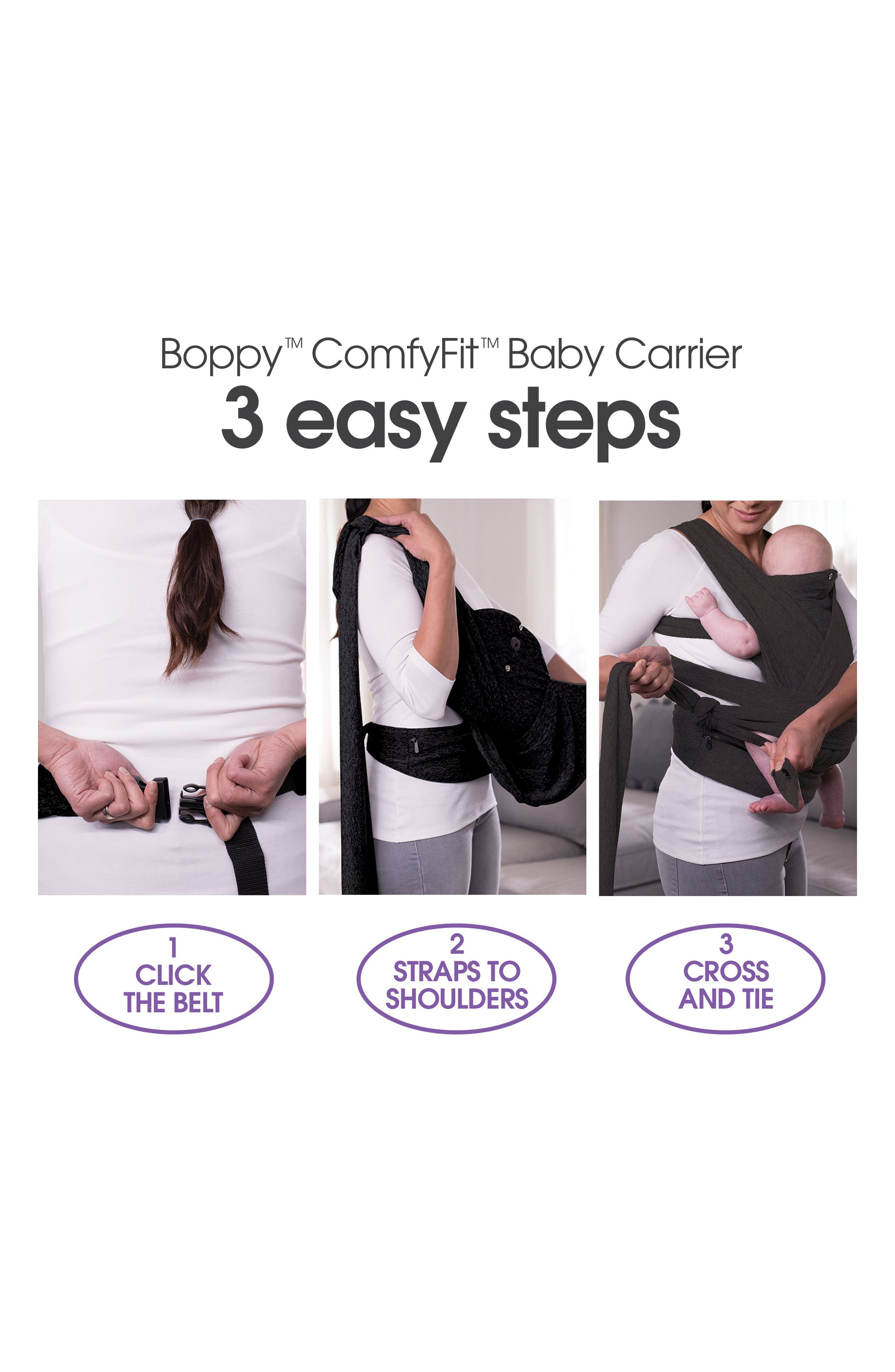 ComfyFit Baby Carrier,                             Alternate thumbnail 3, color,                             BLACK
