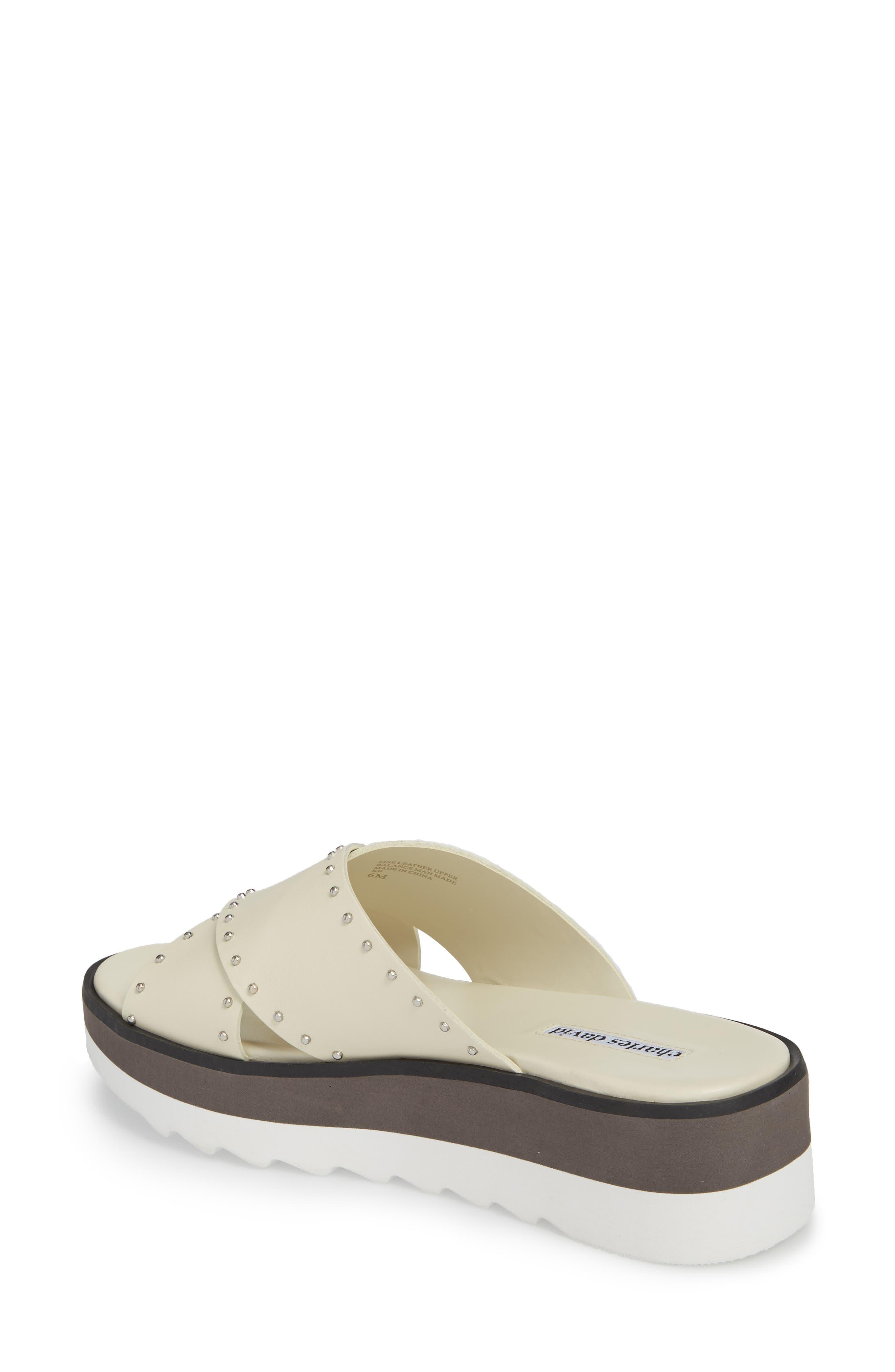 Buxom Sandal,                             Alternate thumbnail 2, color,                             WHITE LEATHER