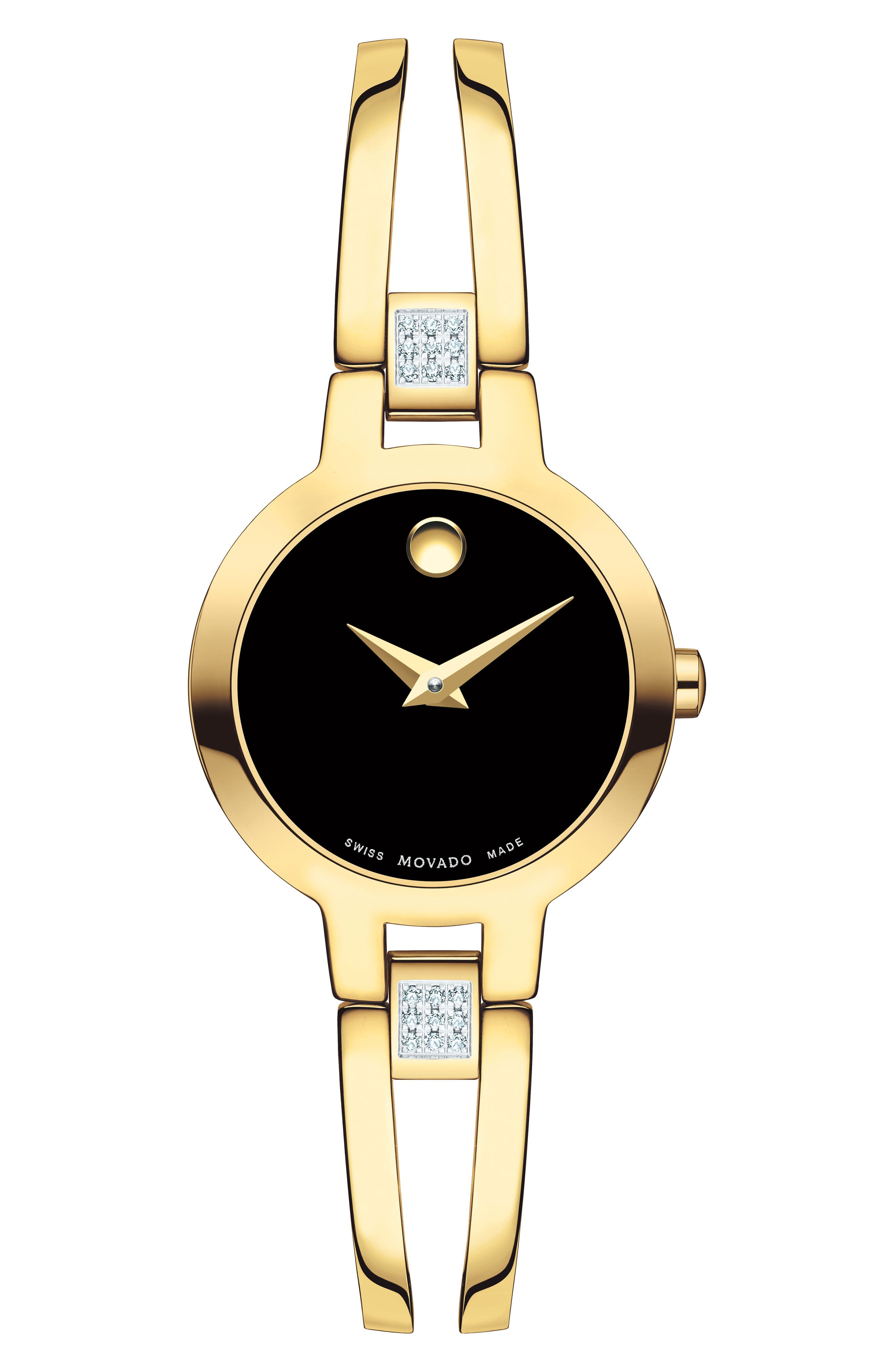 Amorosa Bracelet Watch, 24mm,                             Main thumbnail 1, color,                             GOLD/ BLACK/ GOLD