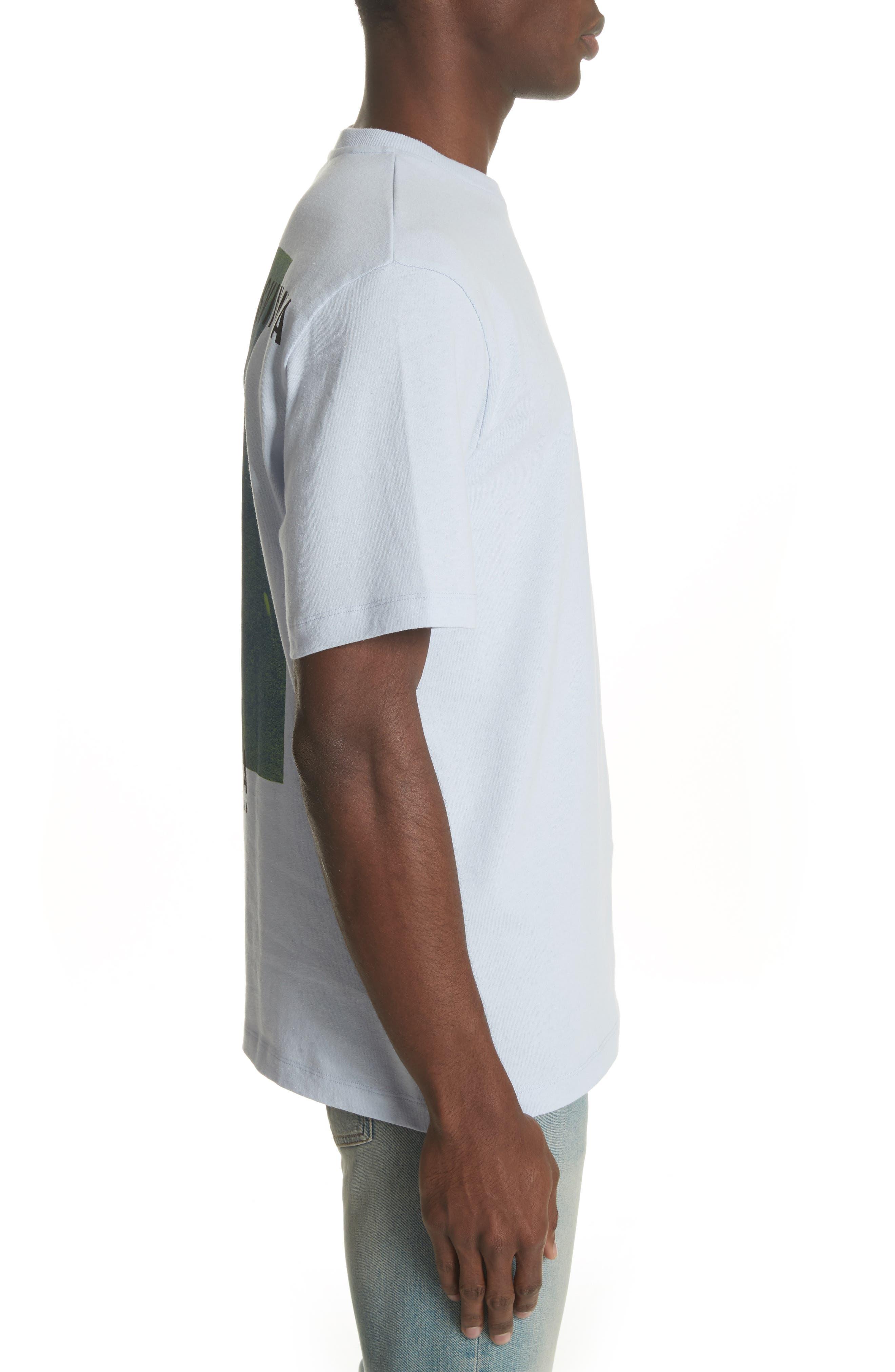 Flower Crewneck T-Shirt,                             Alternate thumbnail 3, color,                             530