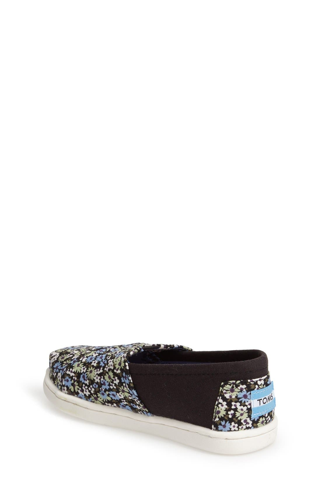 'Classic - Black Canvas Ditsy Floral' Slip-On,                             Alternate thumbnail 2, color,                             001