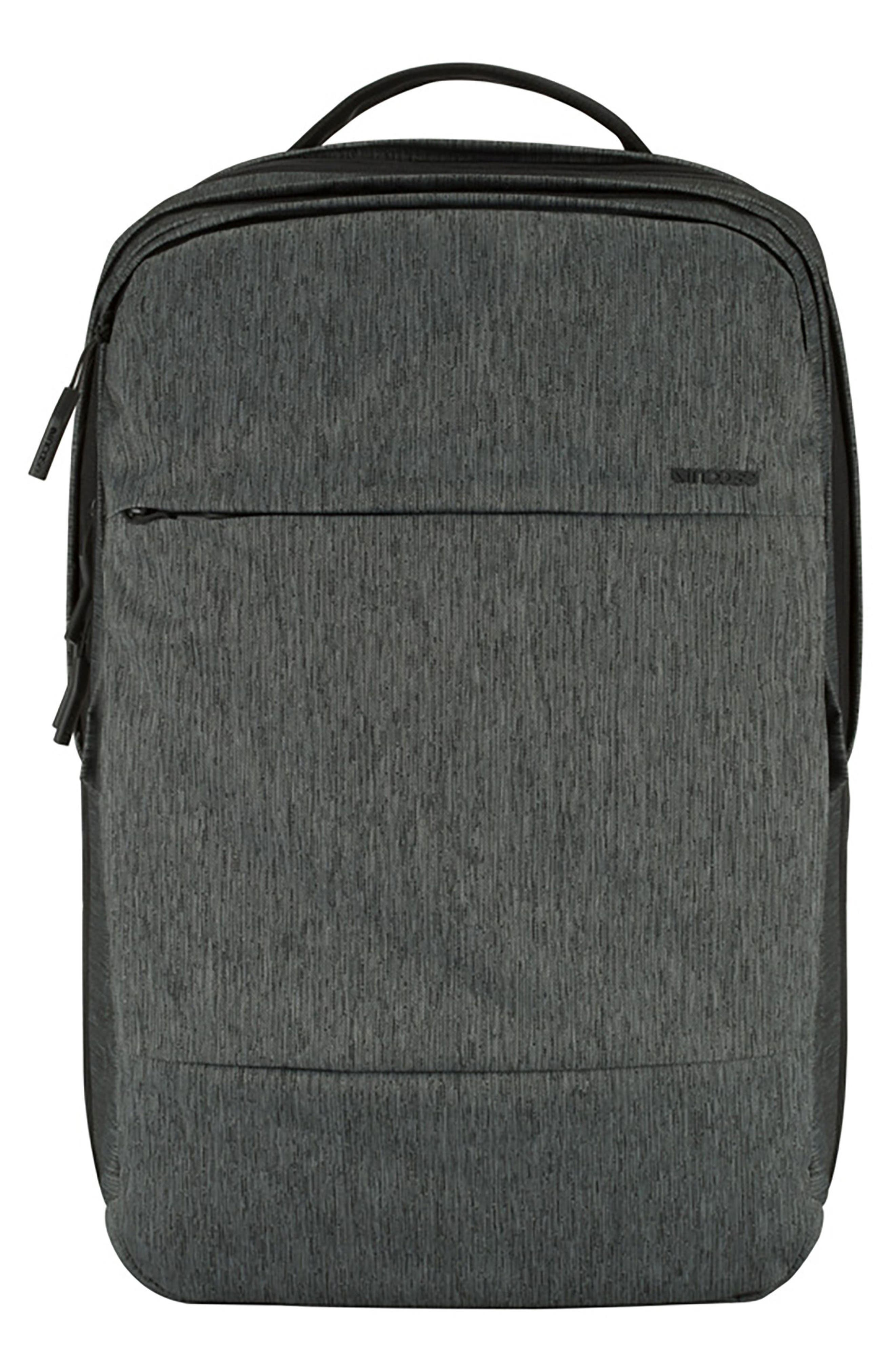 City Commuter Backpack,                         Main,                         color, HEATHER BLACK