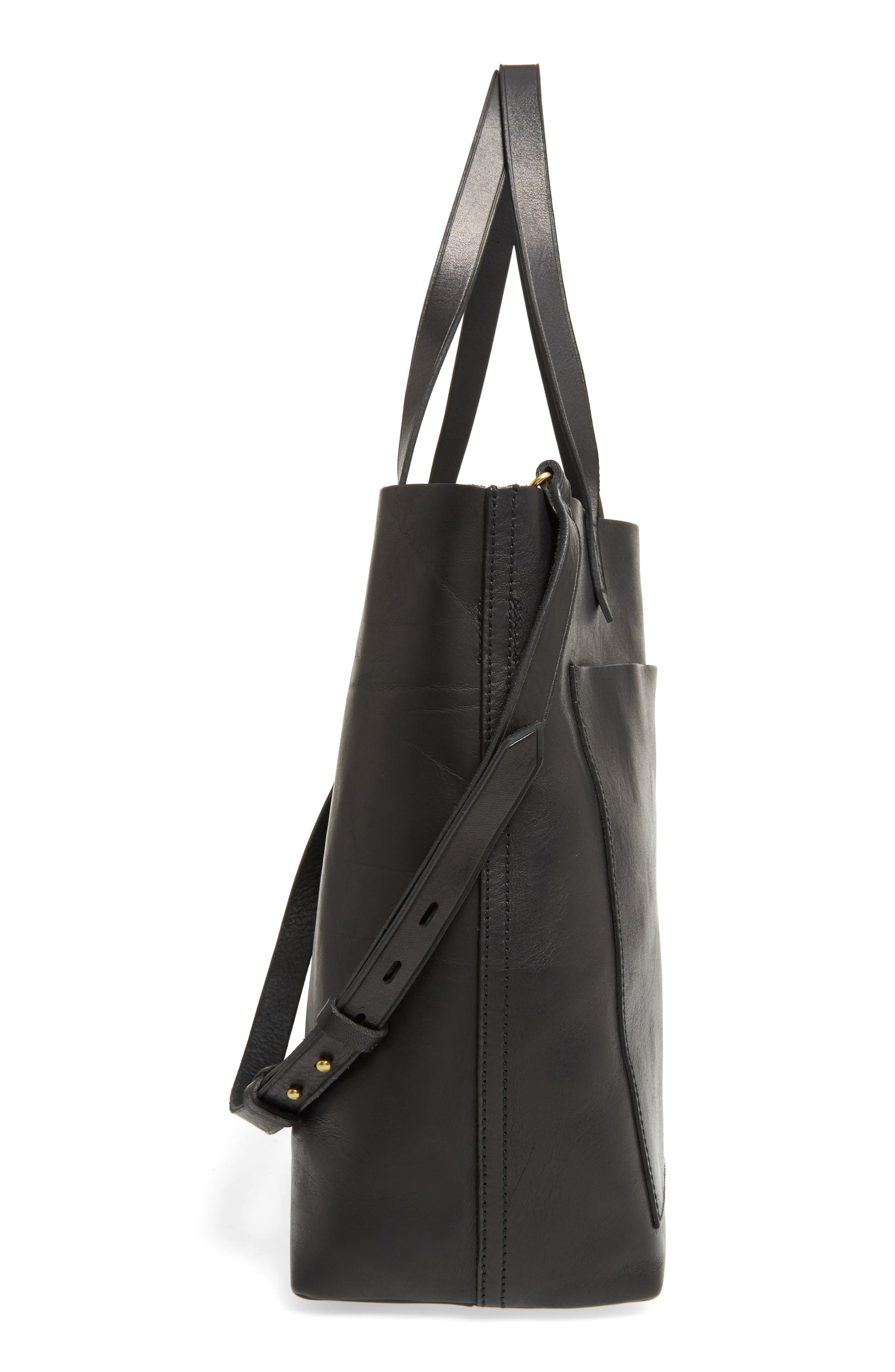 Medium Leather Transport Tote,                             Alternate thumbnail 86, color,