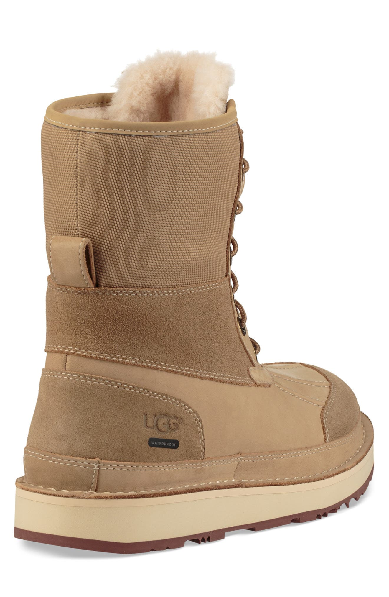 Avalanche Butte Waterproof Boot,                             Alternate thumbnail 3, color,                             DESERT TAN