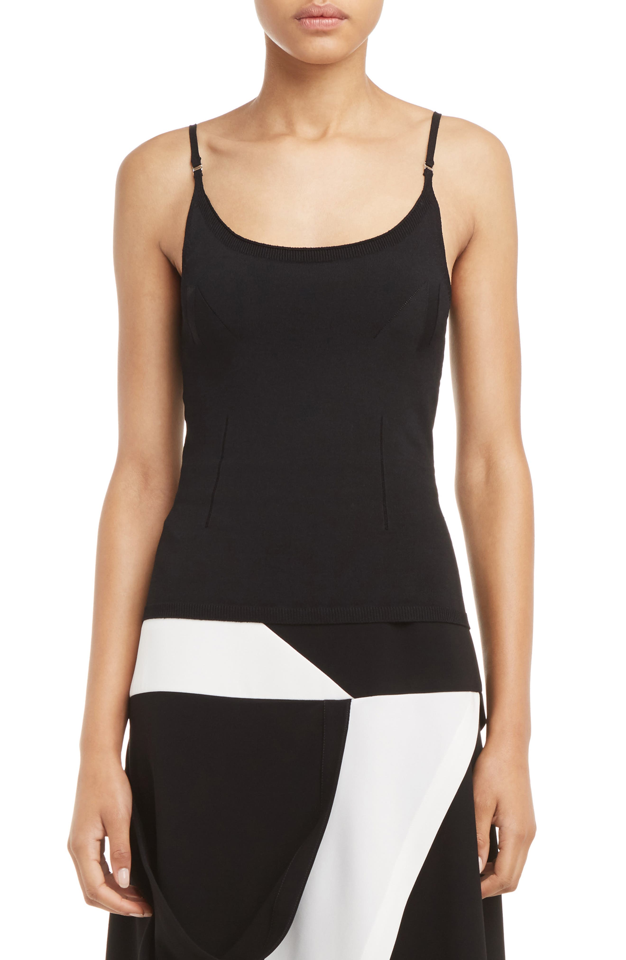 J.W.ANDERSON Geometric Camisole,                             Main thumbnail 1, color,                             001