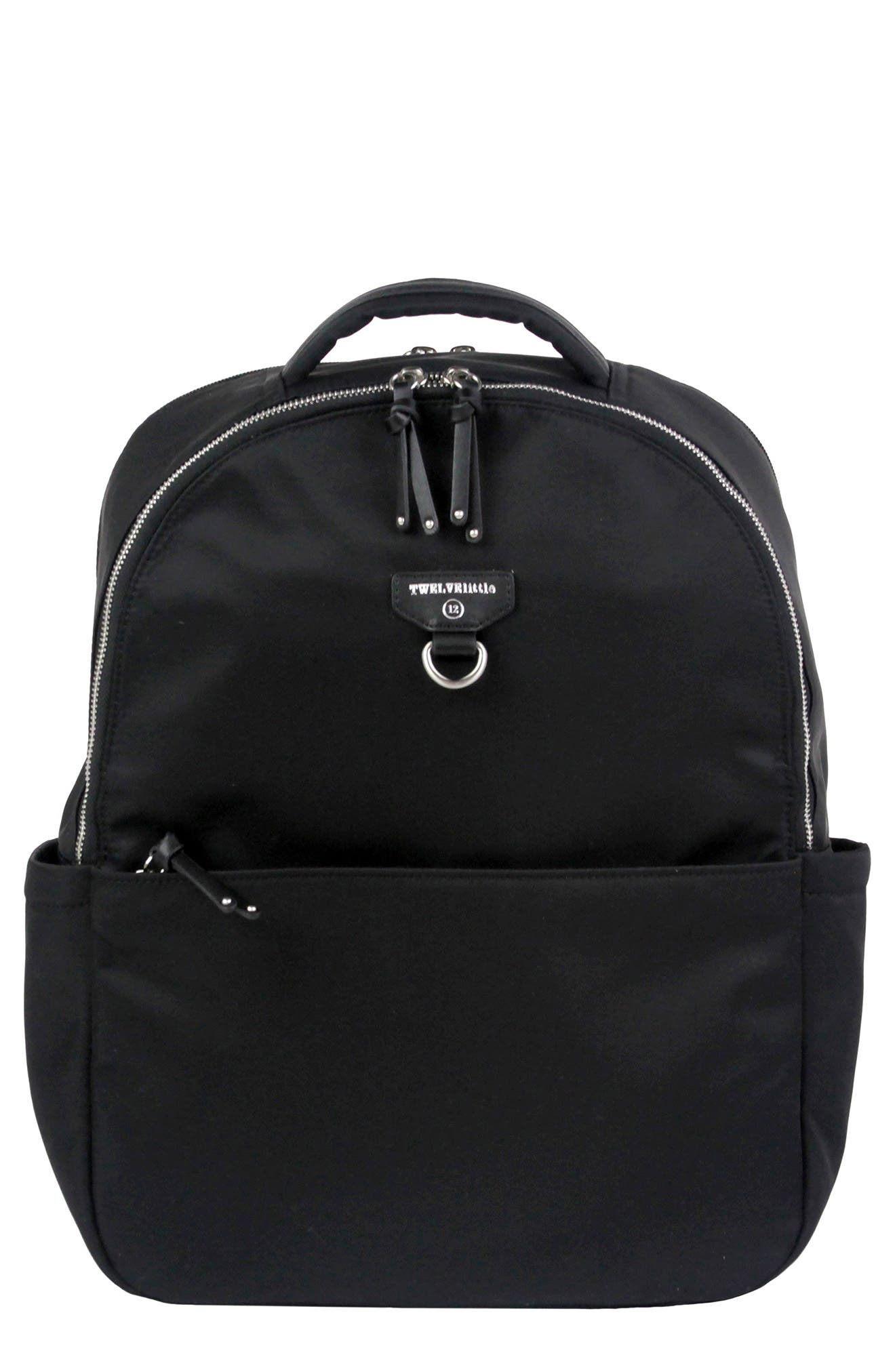 On-the-Go Water Resistant Diaper Backpack,                         Main,                         color, BLACK