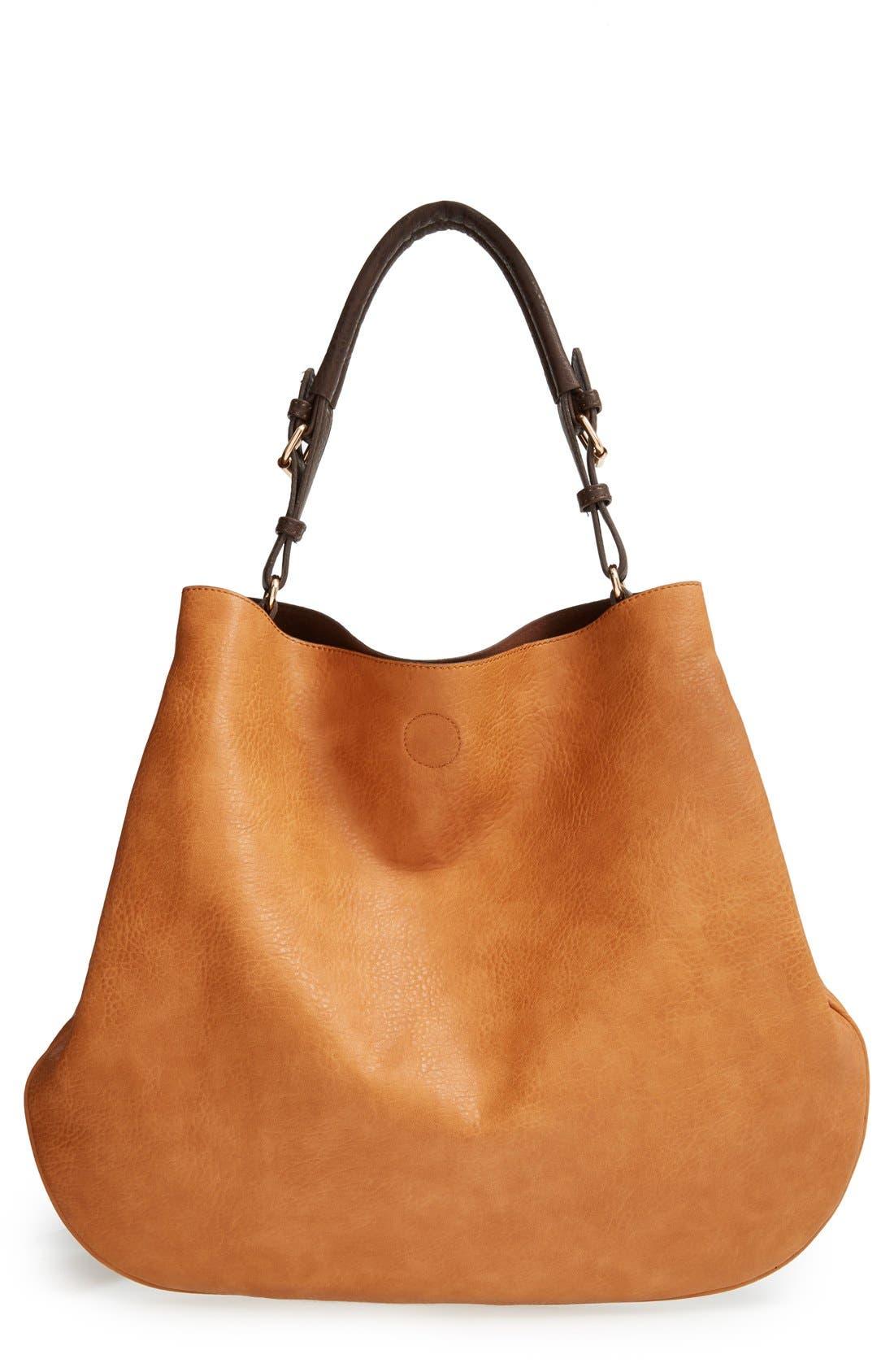 'Capri' Faux Leather Tote,                             Main thumbnail 1, color,                             200