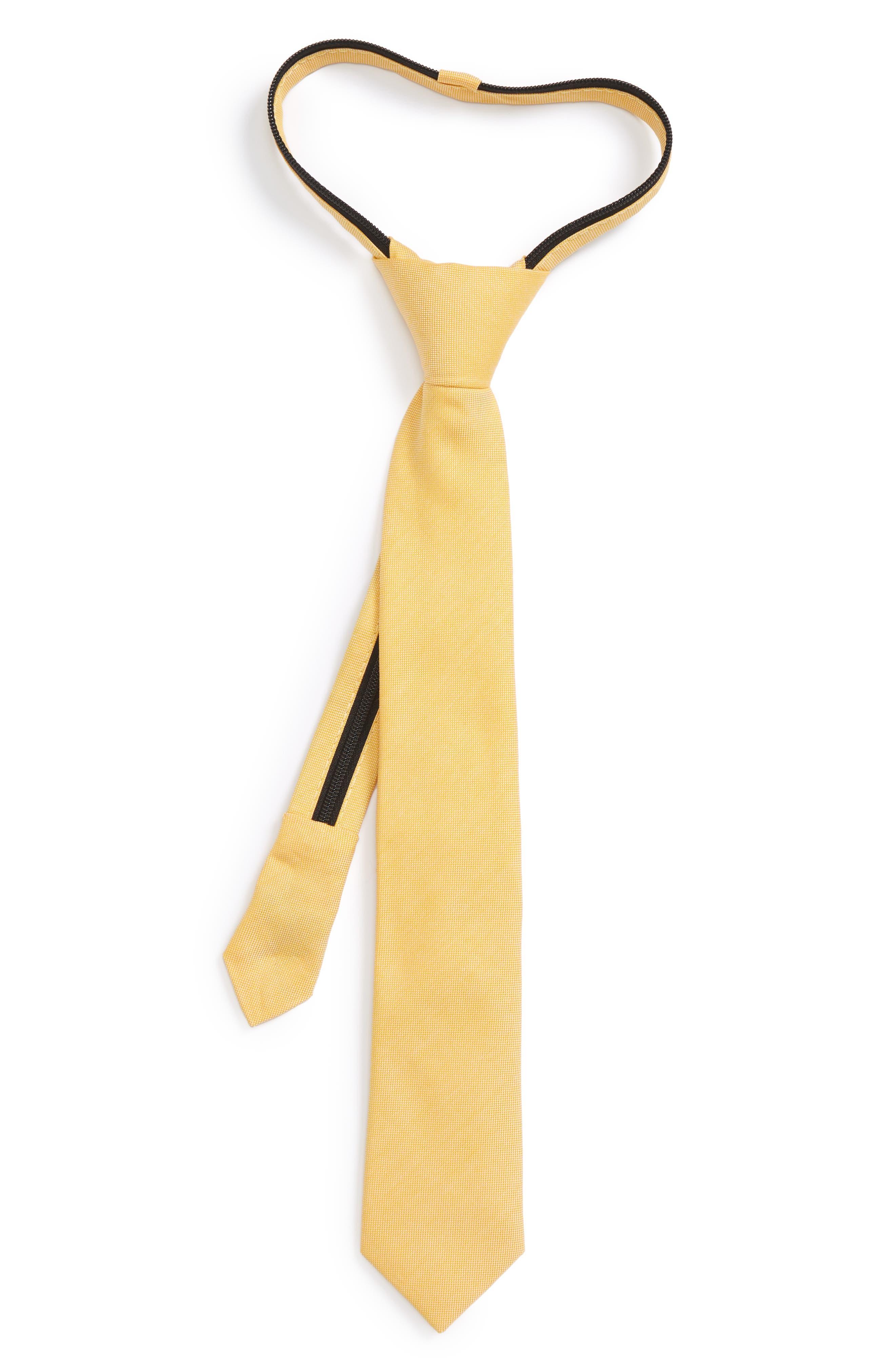 Solid Cotton Zipper Tie,                             Main thumbnail 8, color,