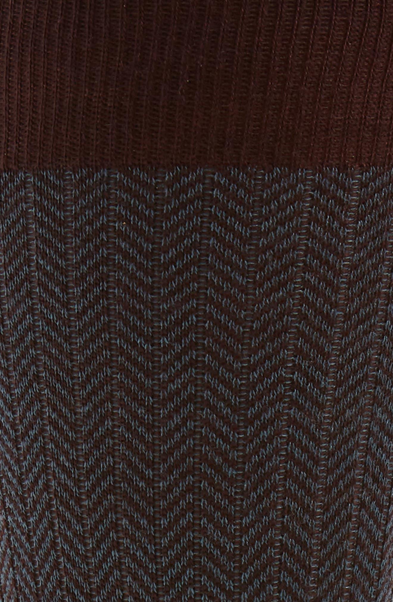 '5911' Mid-Calf Dress Socks,                             Alternate thumbnail 2, color,                             MAROON 153