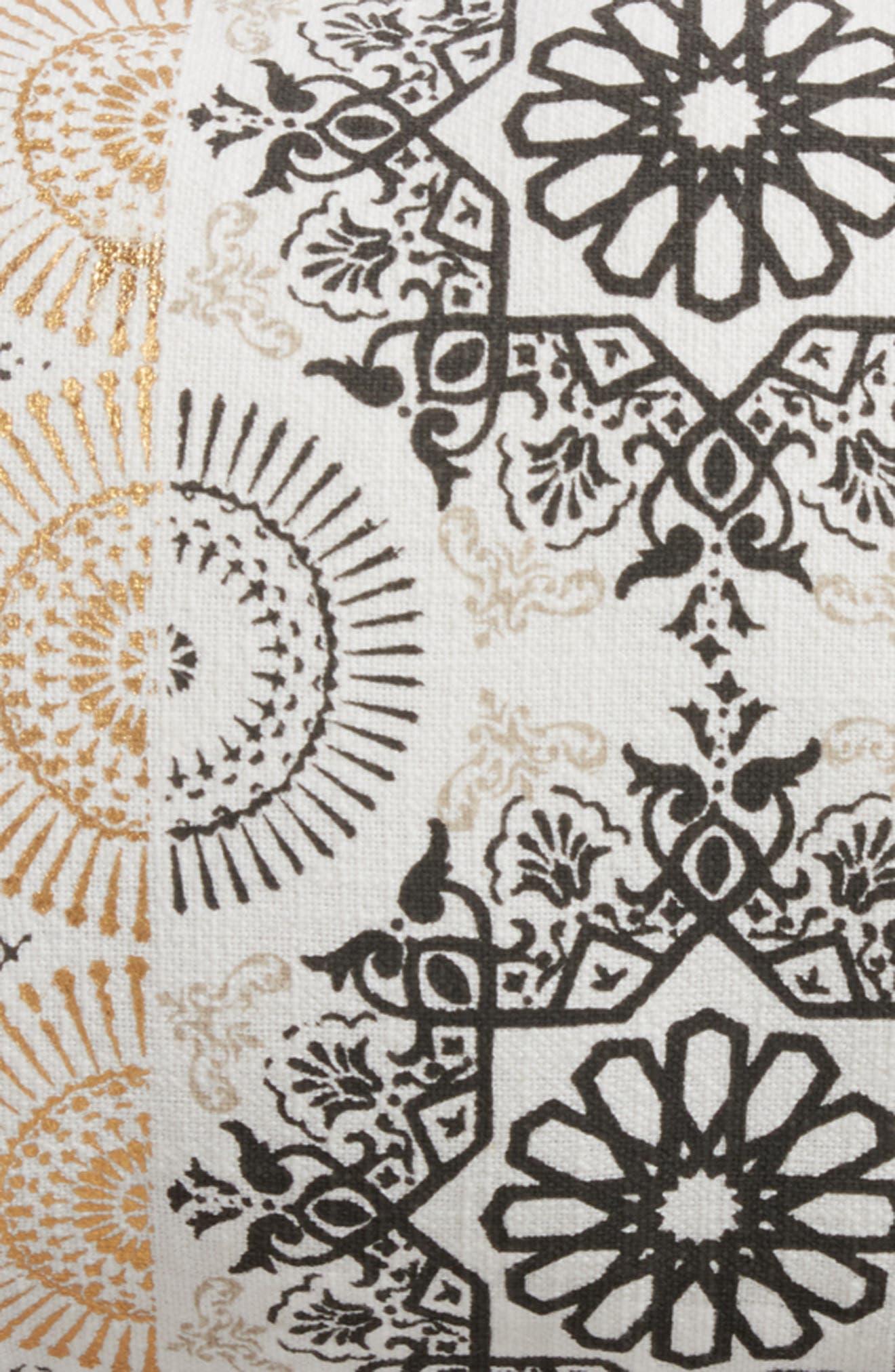 Moroccan Print Accent Pillow,                             Alternate thumbnail 6, color,