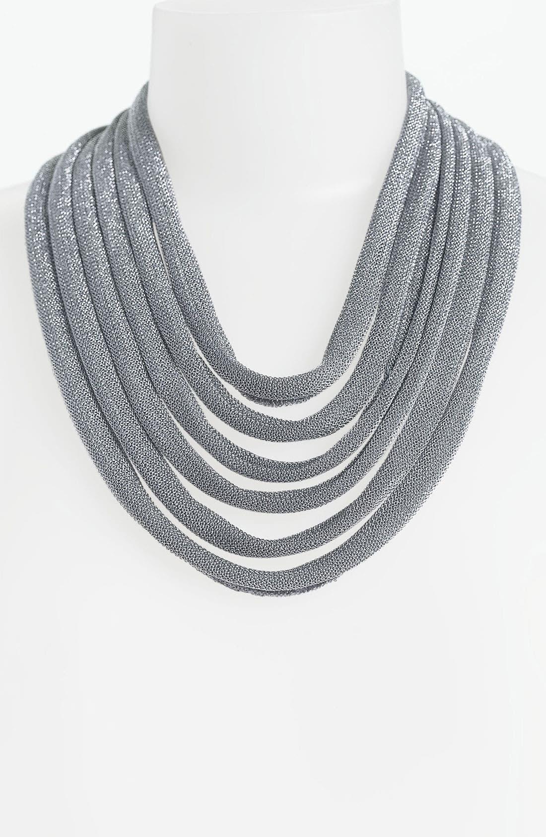ADAMI & MARTUCCI 'Mesh' Multistrand Bib Necklace, Main, color, 040