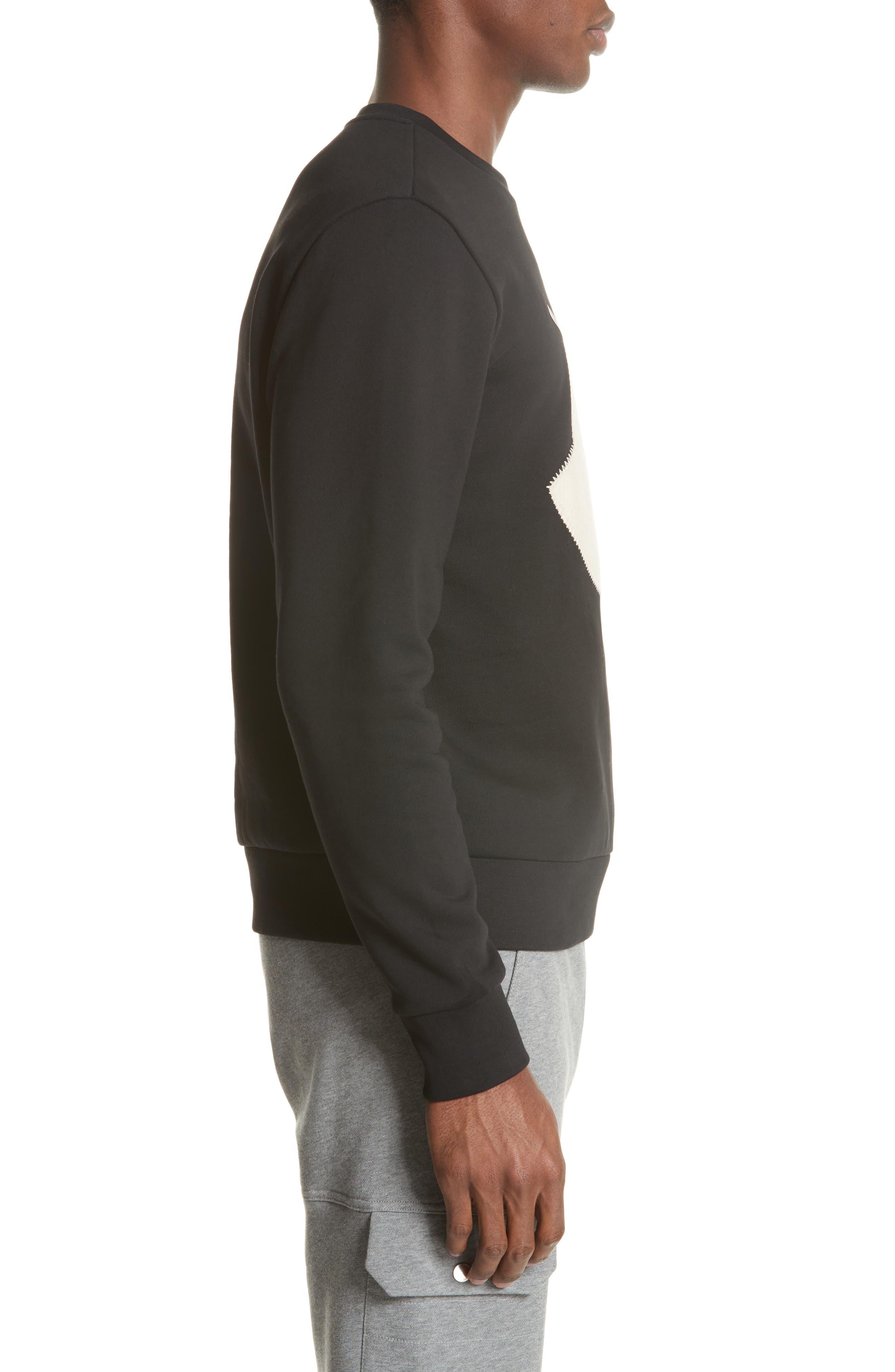 Maglia Big Bell Crewneck Sweatshirt,                             Alternate thumbnail 3, color,                             BLACK