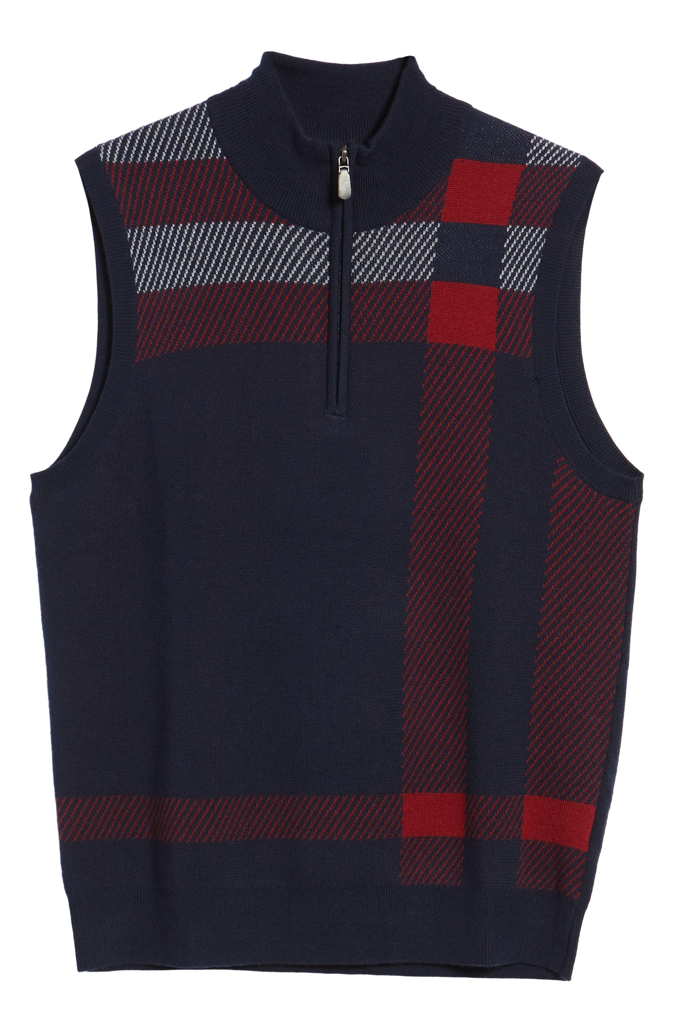 Oversize Plaid Wool Vest,                             Alternate thumbnail 12, color,