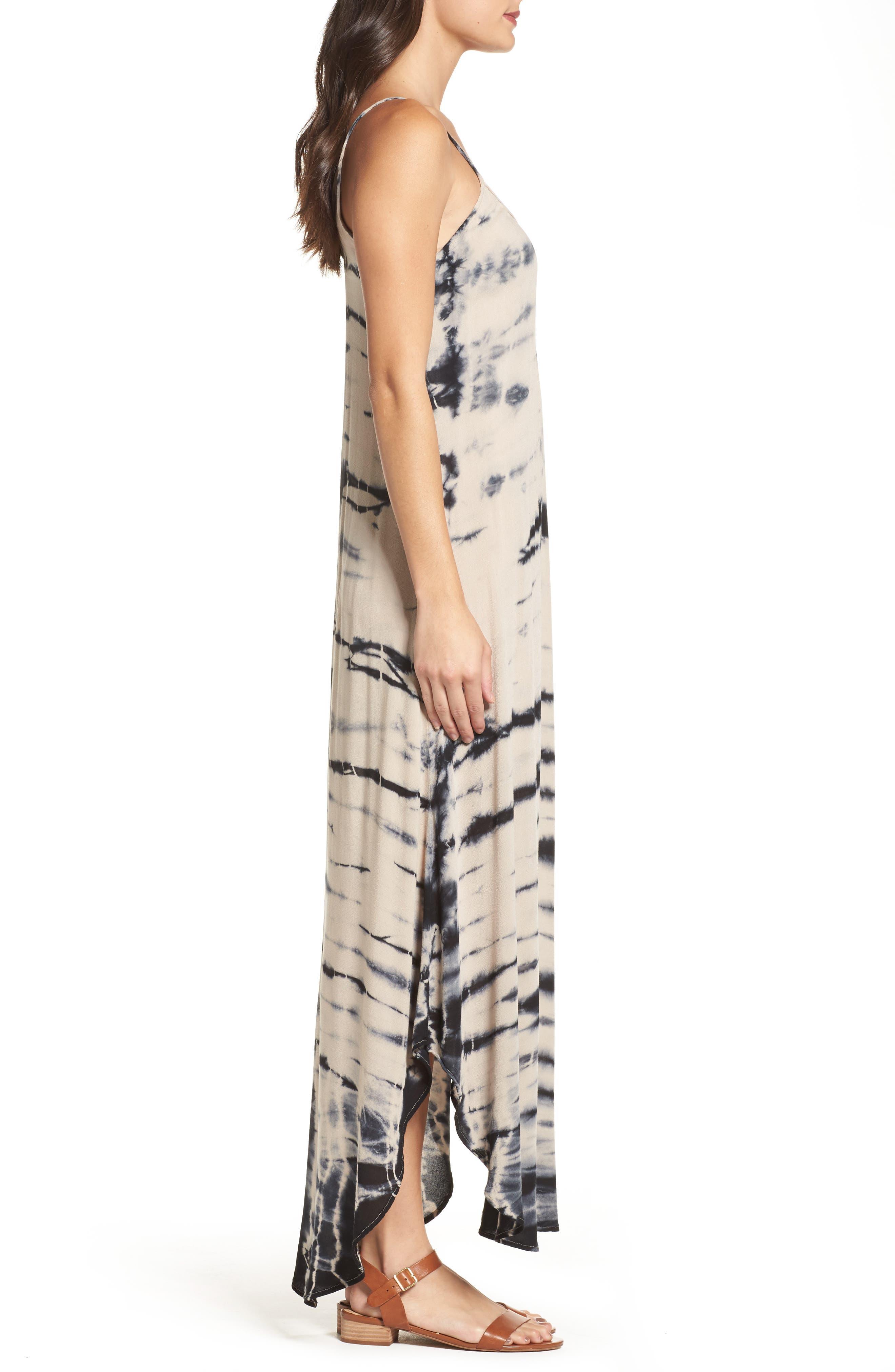 Tie Dye A-Line Maxi Dress,                             Alternate thumbnail 3, color,                             250
