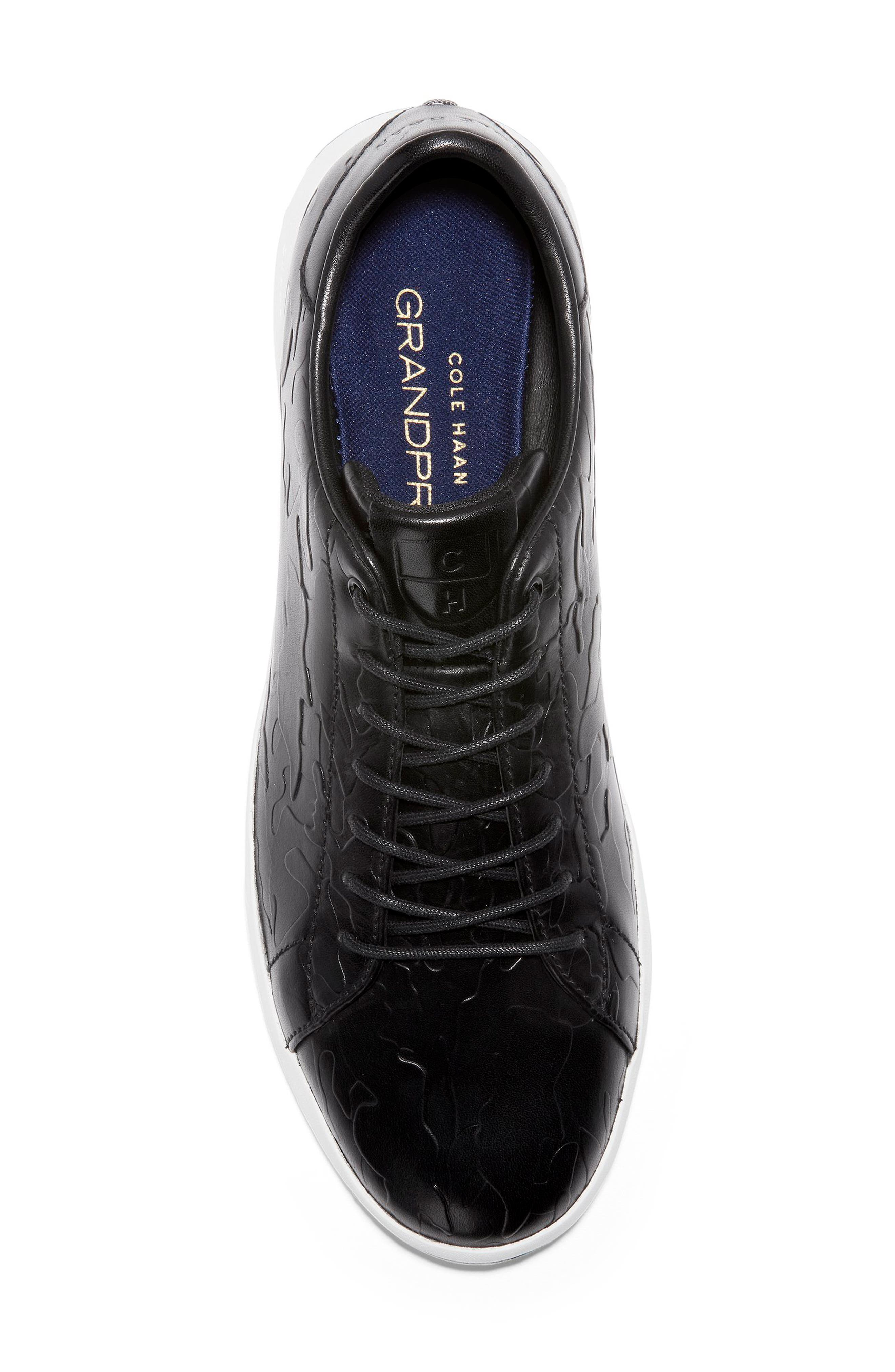 GrandPro Tennis Sneaker,                             Alternate thumbnail 5, color,                             BLACK/ CAMO LEATHER
