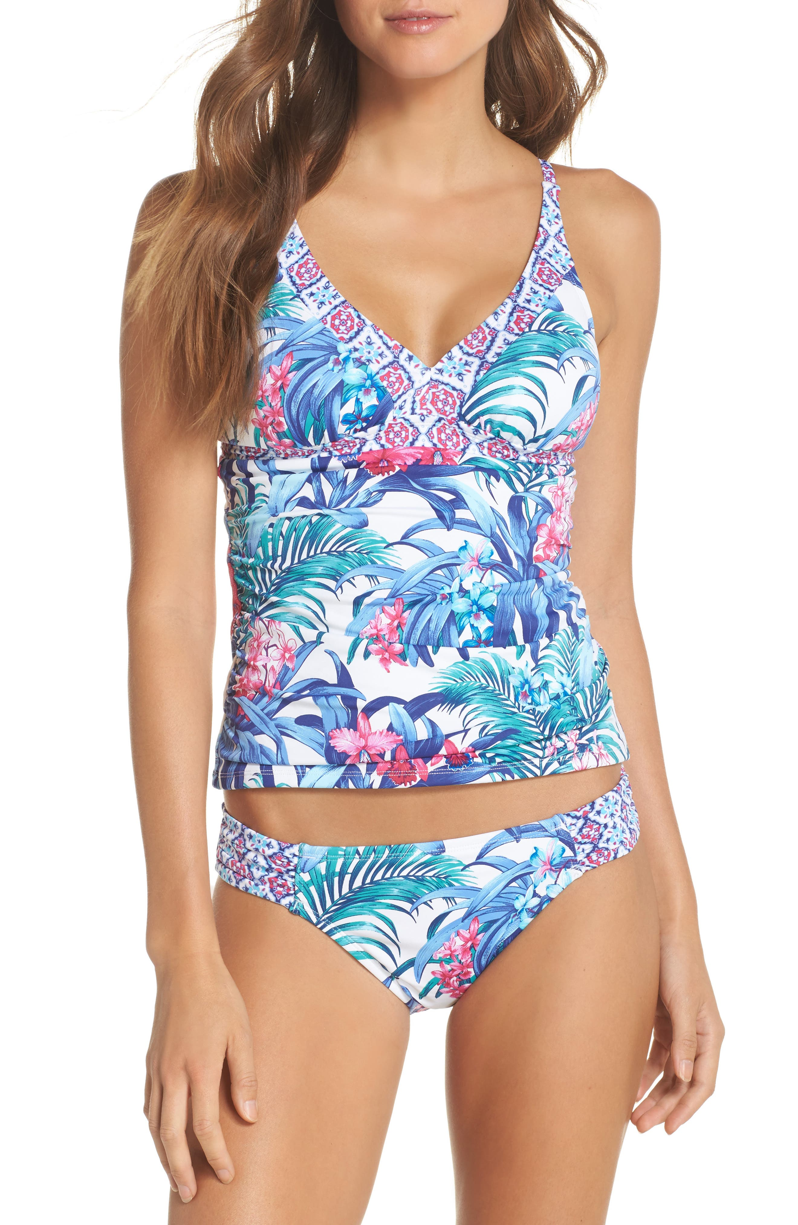 Majorelle Tankini Top,                             Alternate thumbnail 7, color,                             100