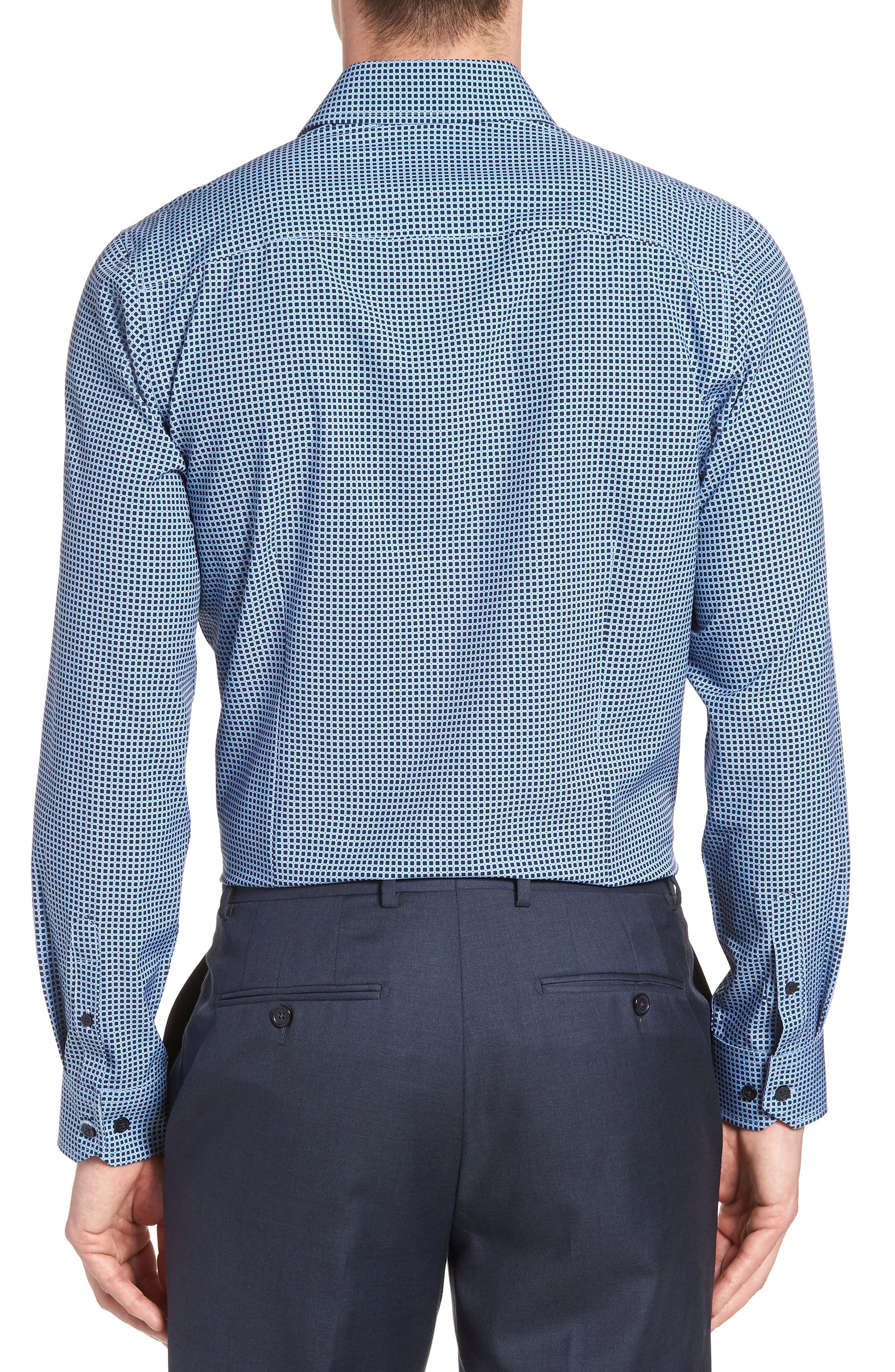 W.R.K,                             Trim Fit Check 4-Way Stretch Dress Shirt,                             Alternate thumbnail 3, color,                             410