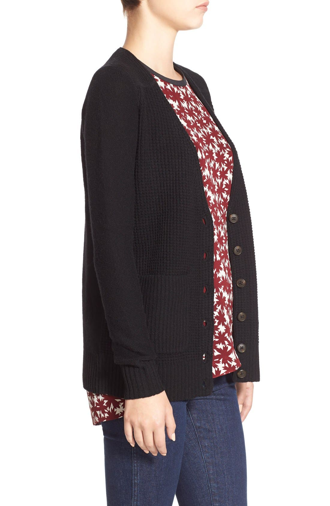MADEWELL,                             'University' Cardigan,                             Alternate thumbnail 5, color,                             001