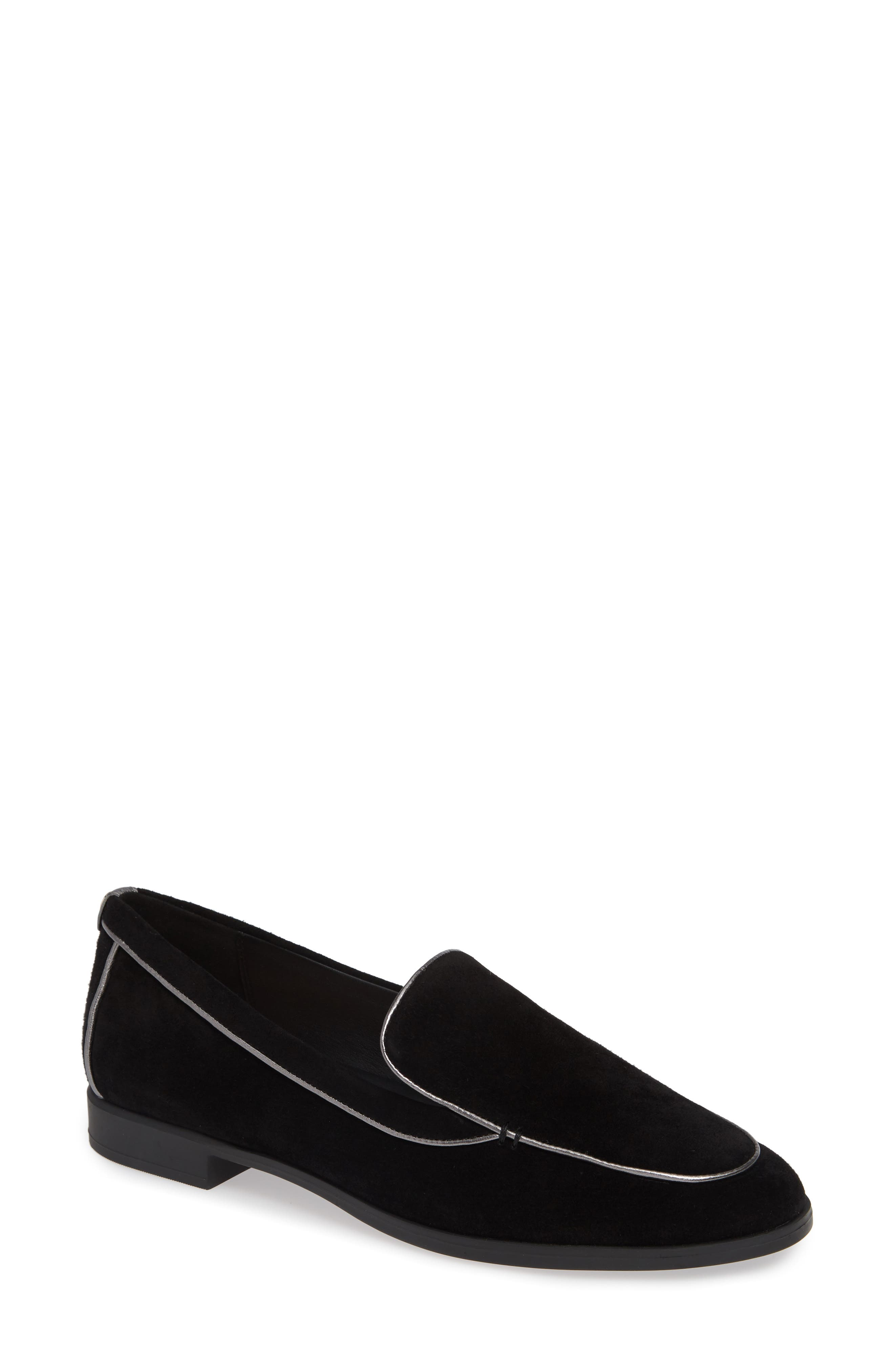 Bryn Loafer,                             Main thumbnail 1, color,                             BLACK SUEDE