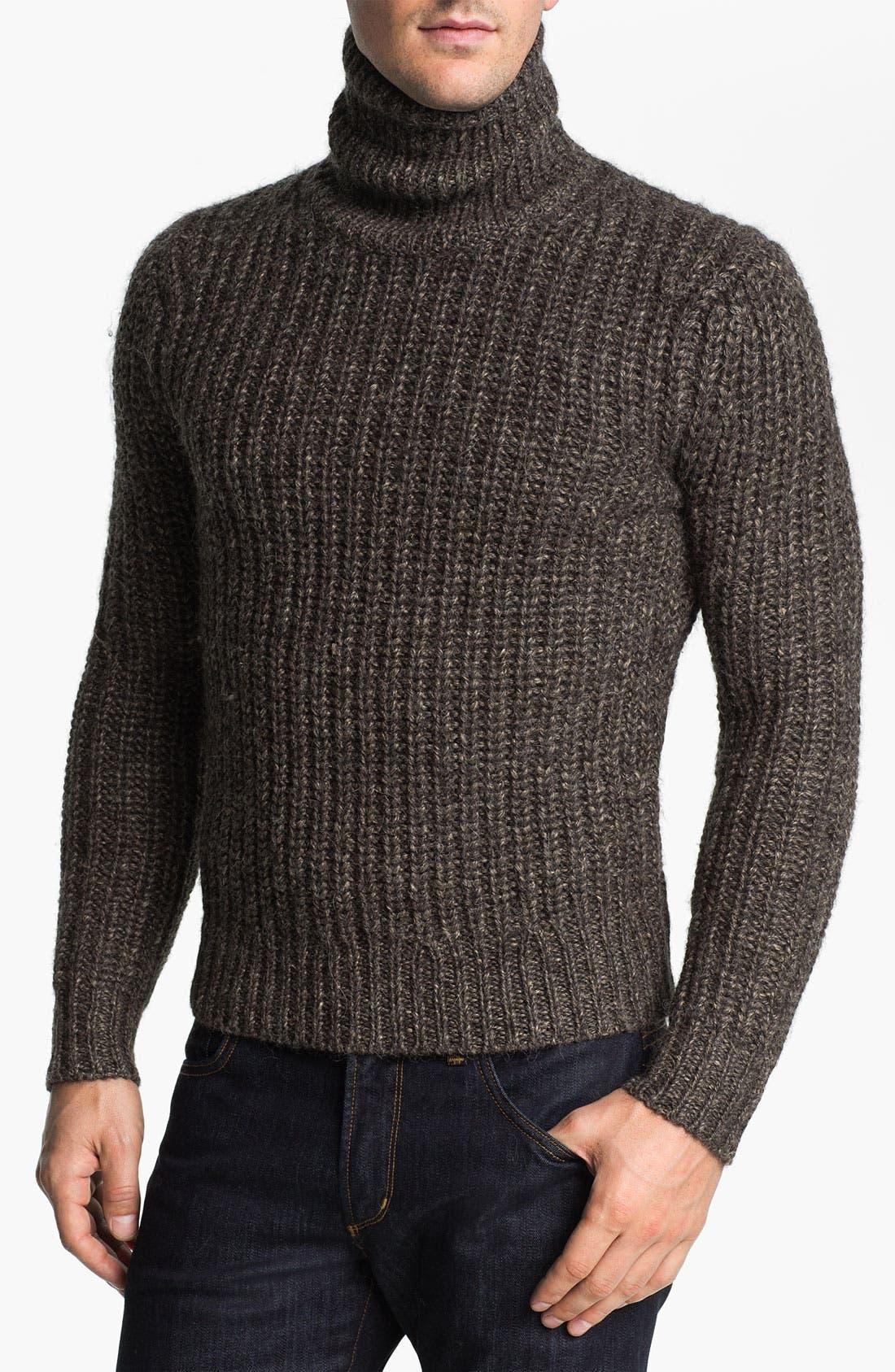 MICHAEL KORS Alpaca Blend Turtleneck Sweater, Main, color, 029