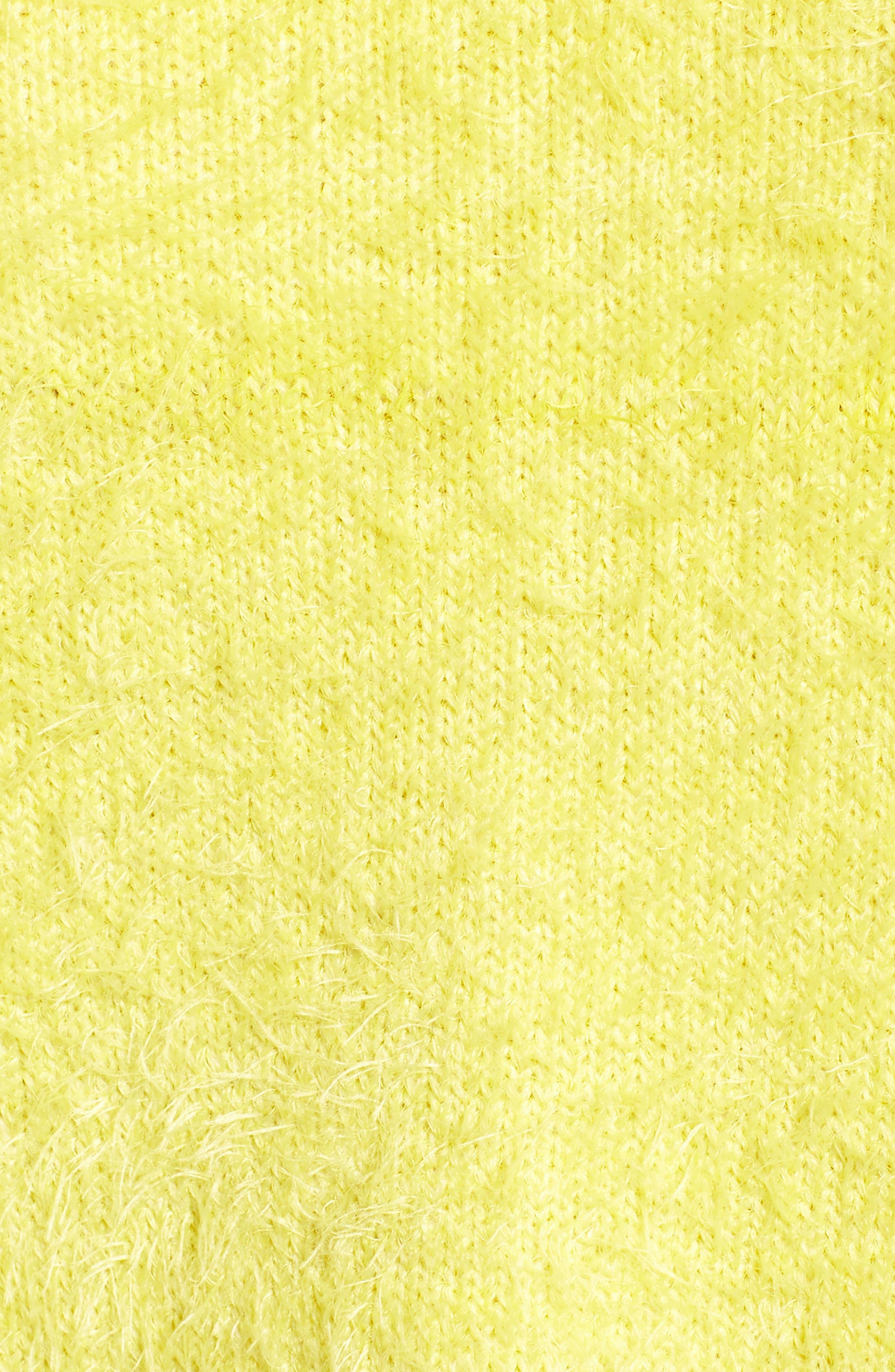 Clover Fields Chenille Sweater,                             Alternate thumbnail 5, color,                             MARIGOLD