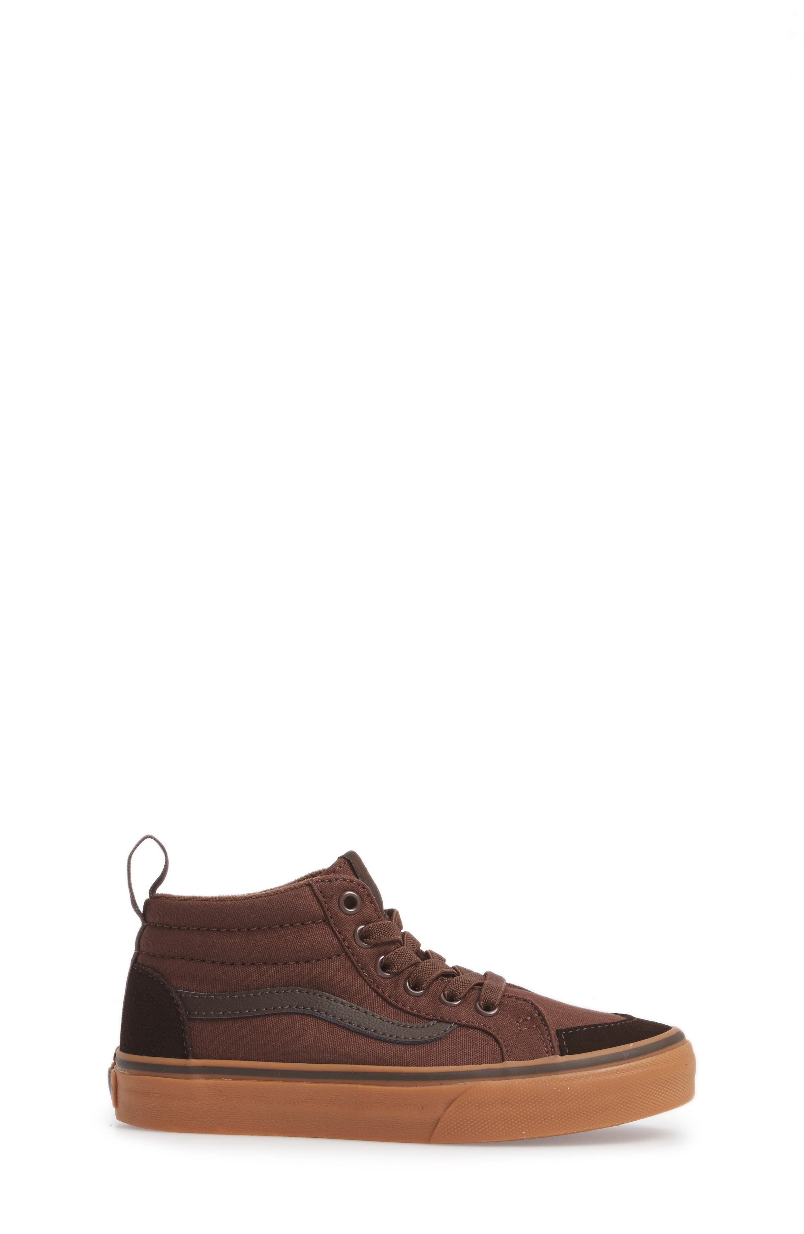 Racer Mid Elastic Lace Sneaker,                             Alternate thumbnail 17, color,