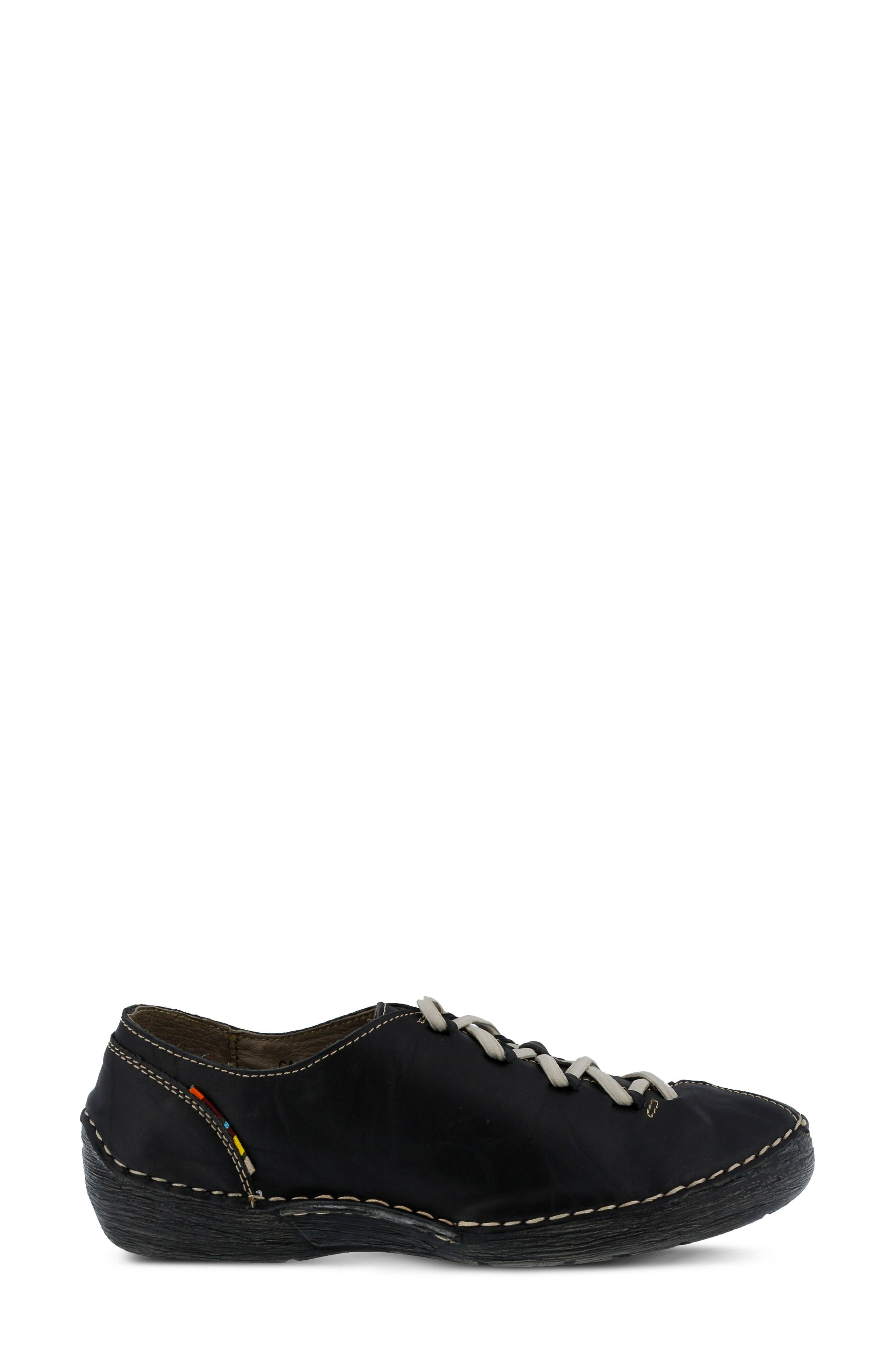 Carhop Sneaker,                             Alternate thumbnail 3, color,                             BLACK LEATHER