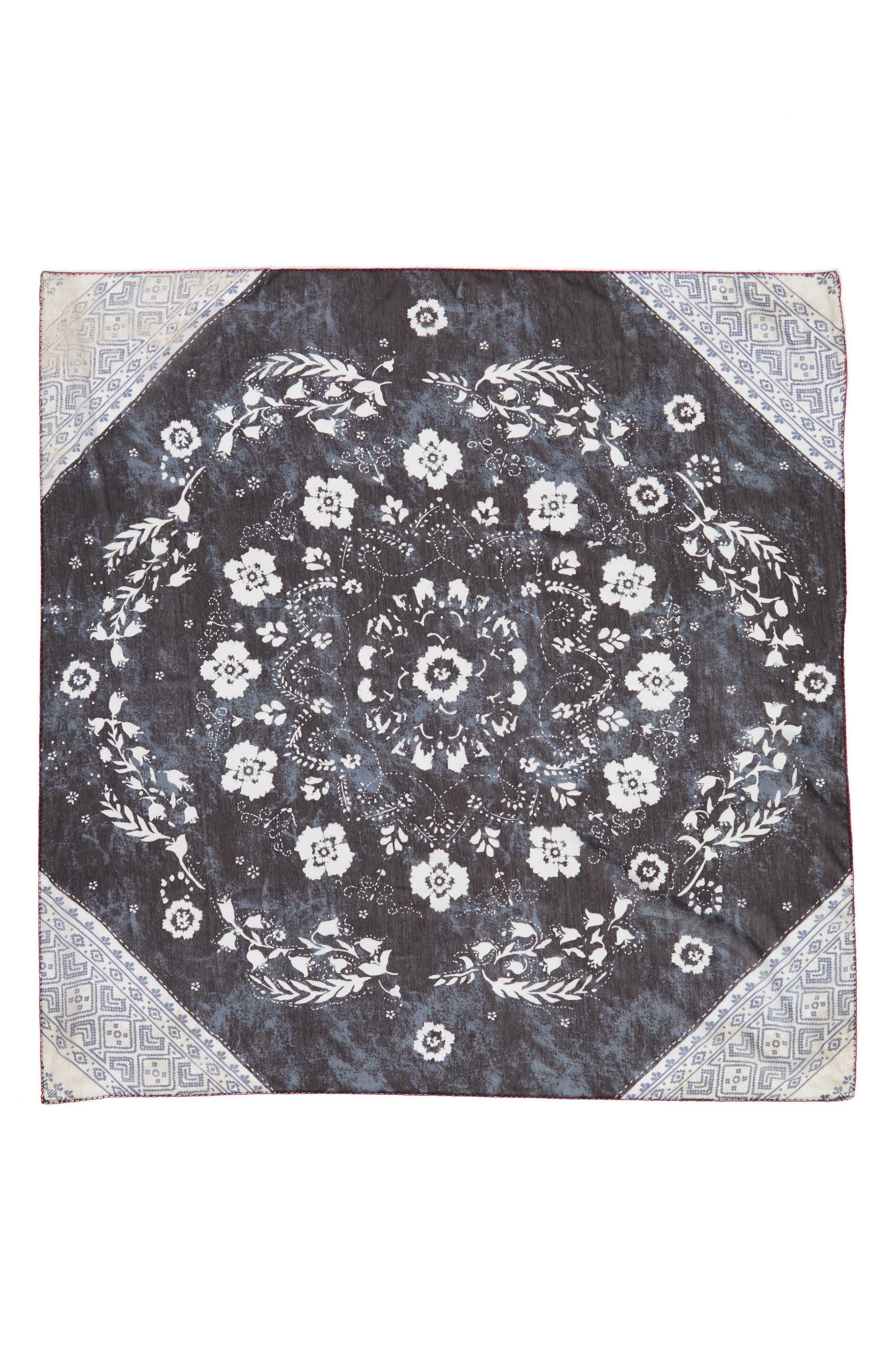 Paisley Blocks Square Scarf,                             Alternate thumbnail 2, color,                             001