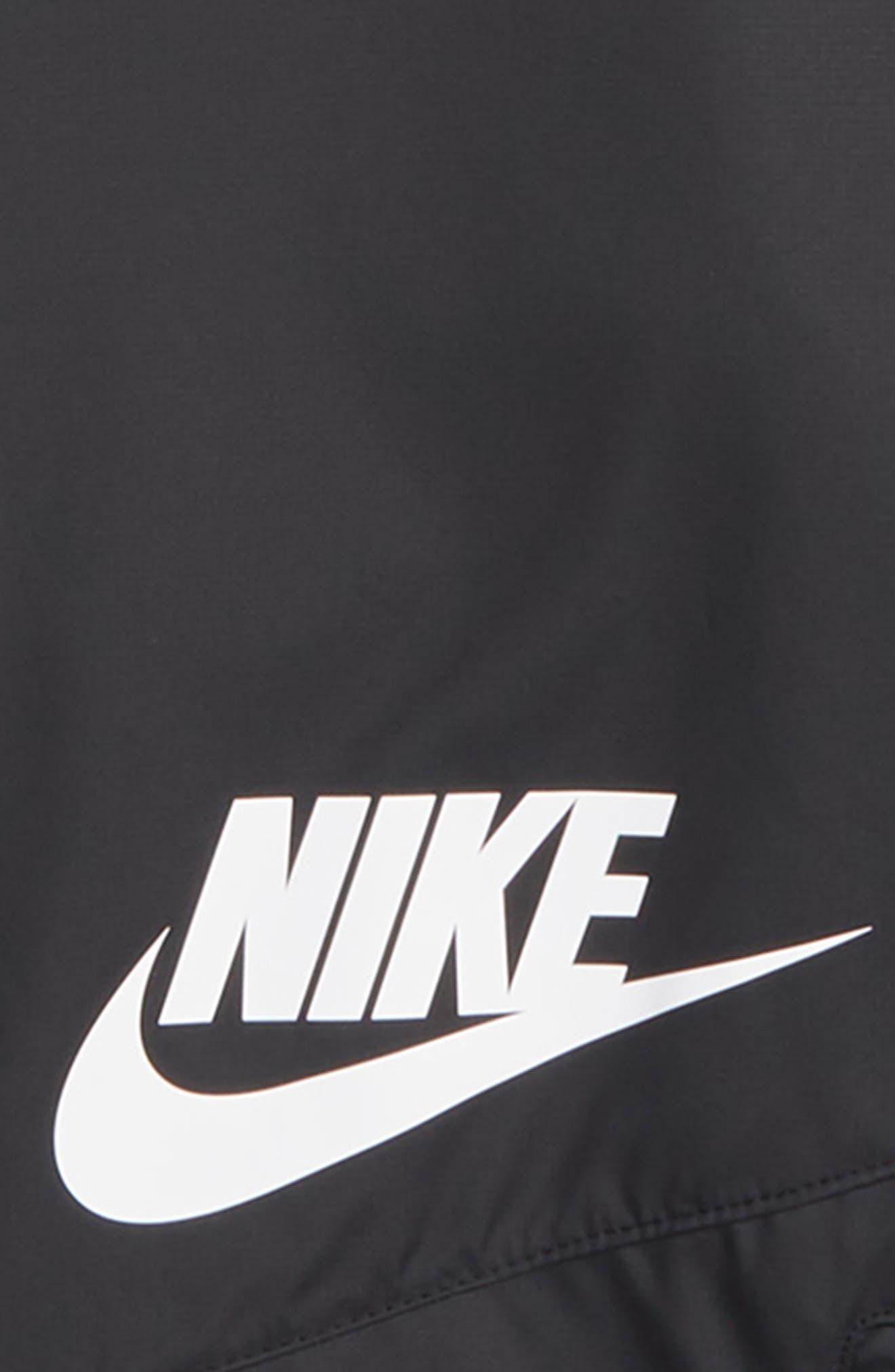 Sportswear Windrunner Hooded Jacket,                             Alternate thumbnail 2, color,                             BLACK/ WHITE