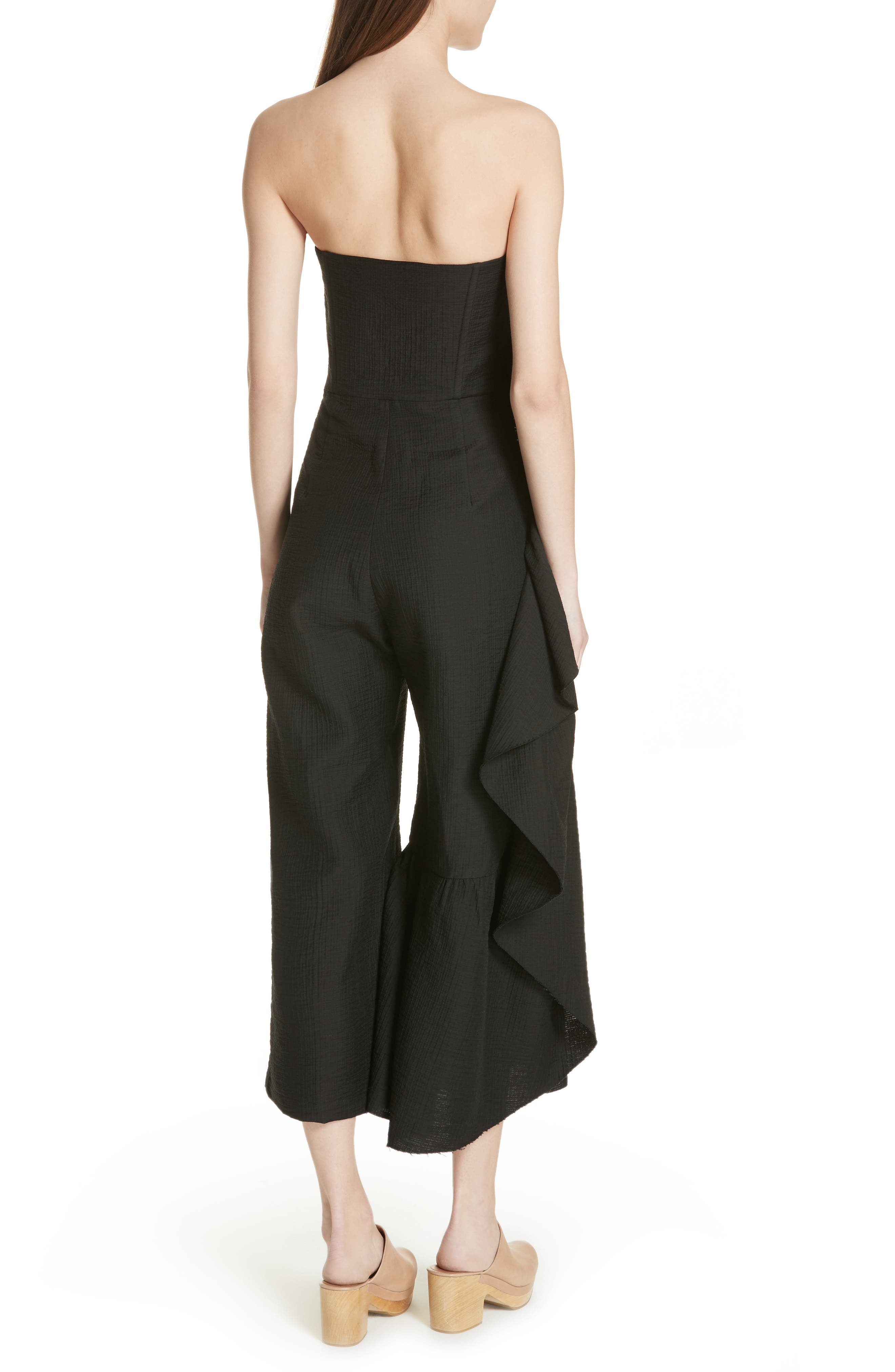 Revel Strapless Jumpsuit,                             Alternate thumbnail 2, color,                             001