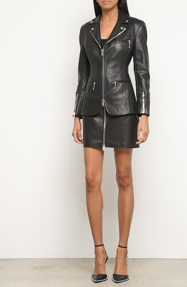 Zip Front Leather Blazer, video thumbnail