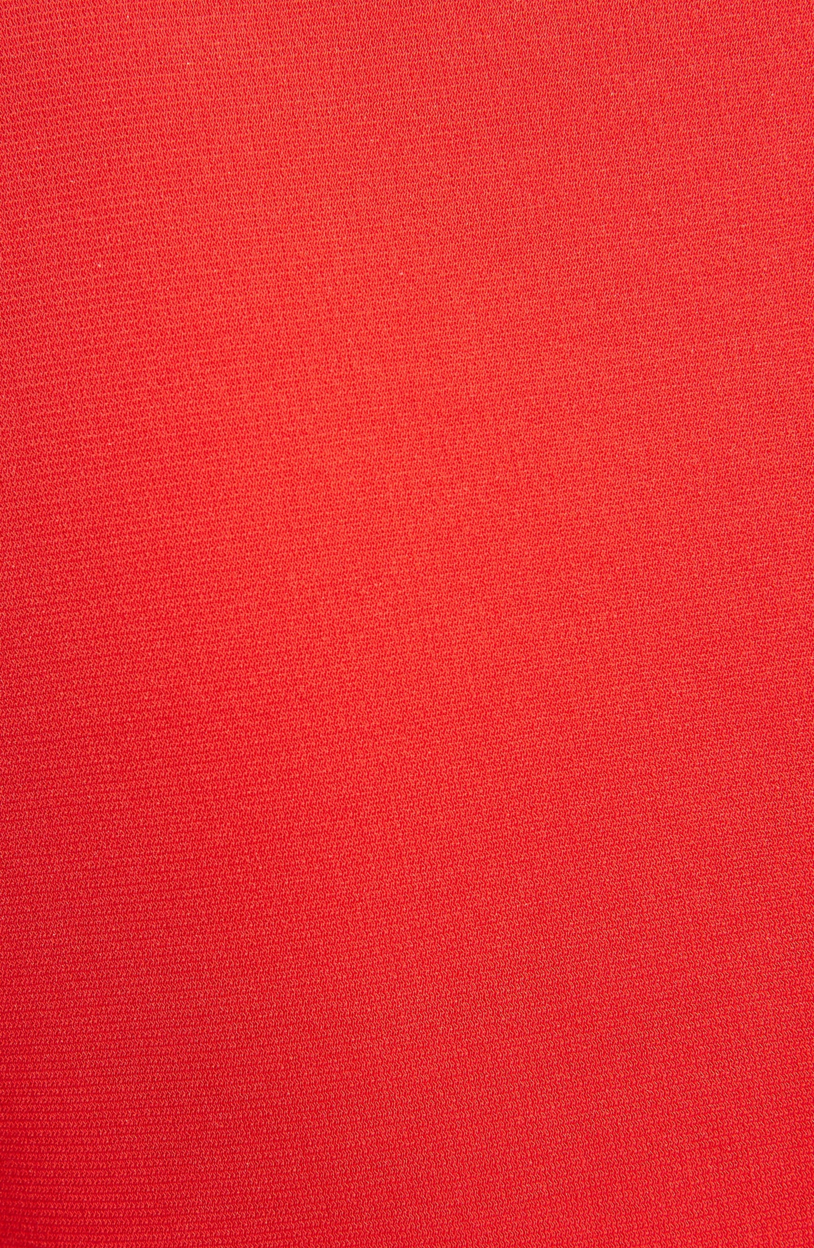 Jersey Turtleneck Tulip Hem Dress,                             Alternate thumbnail 5, color,                             620