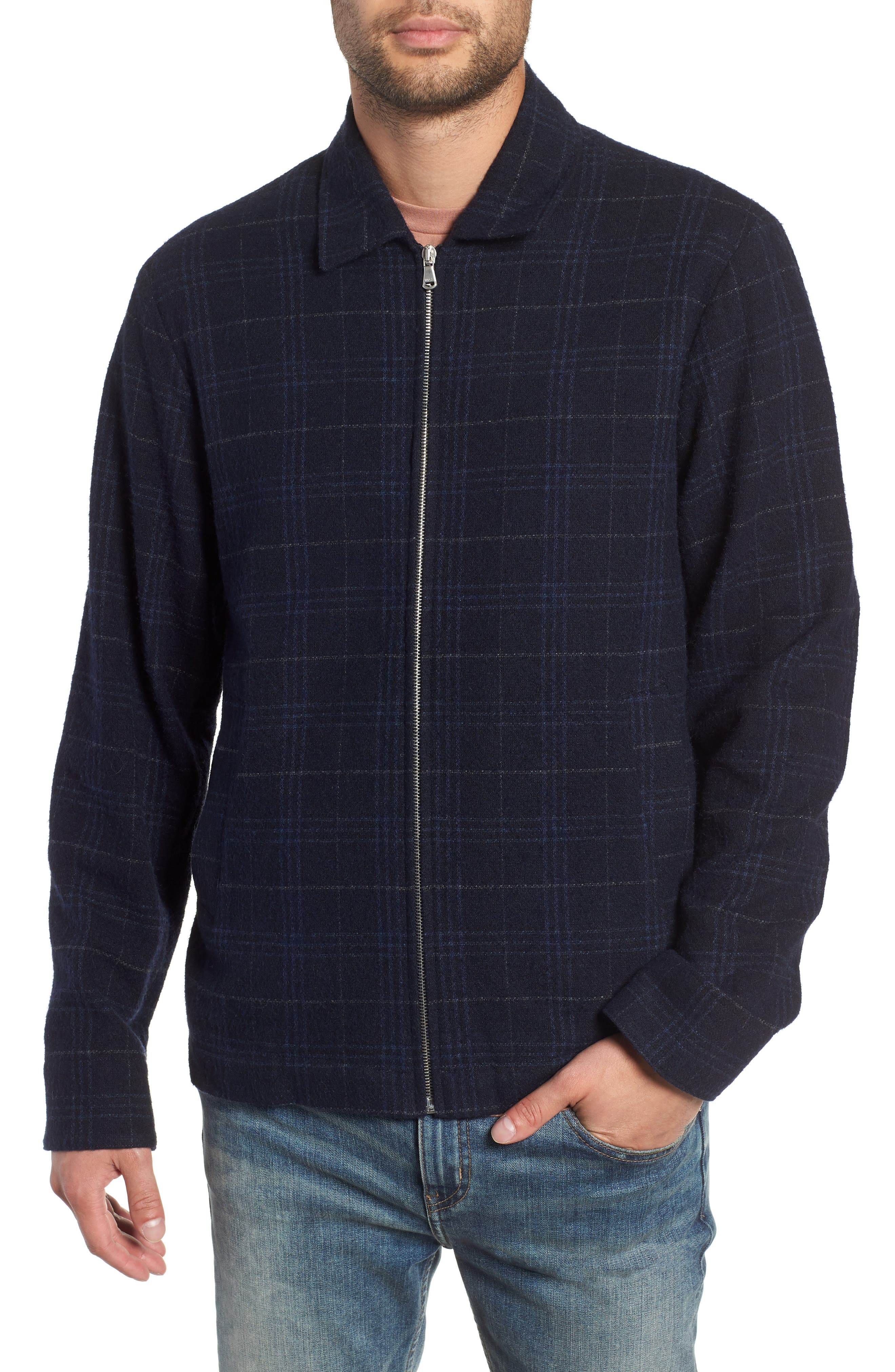 WAX LONDON,                             Witham Coach's Jacket,                             Alternate thumbnail 4, color,                             NAVY CHECK