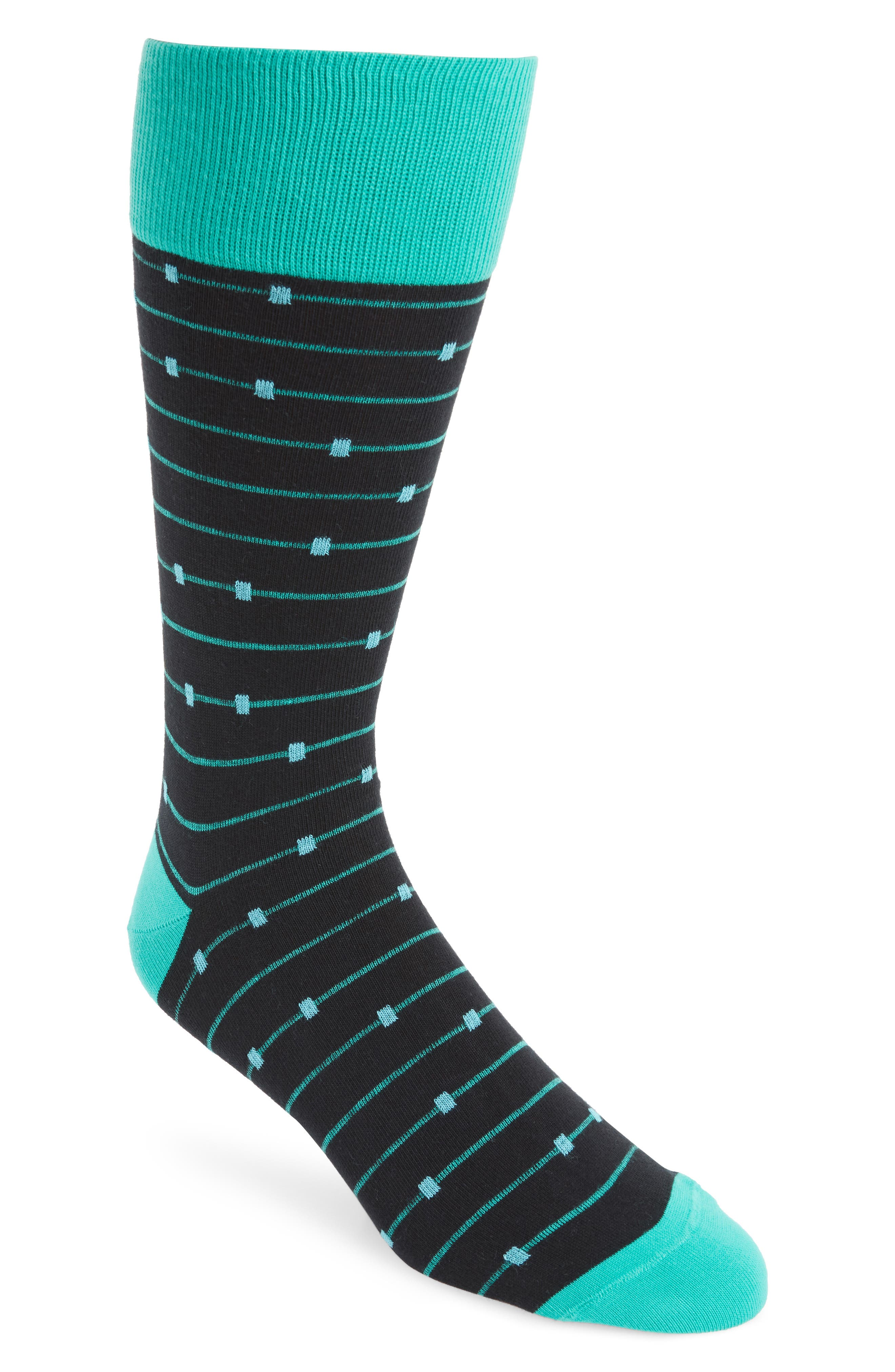 Ticked Stripe Socks,                             Main thumbnail 1, color,                             001