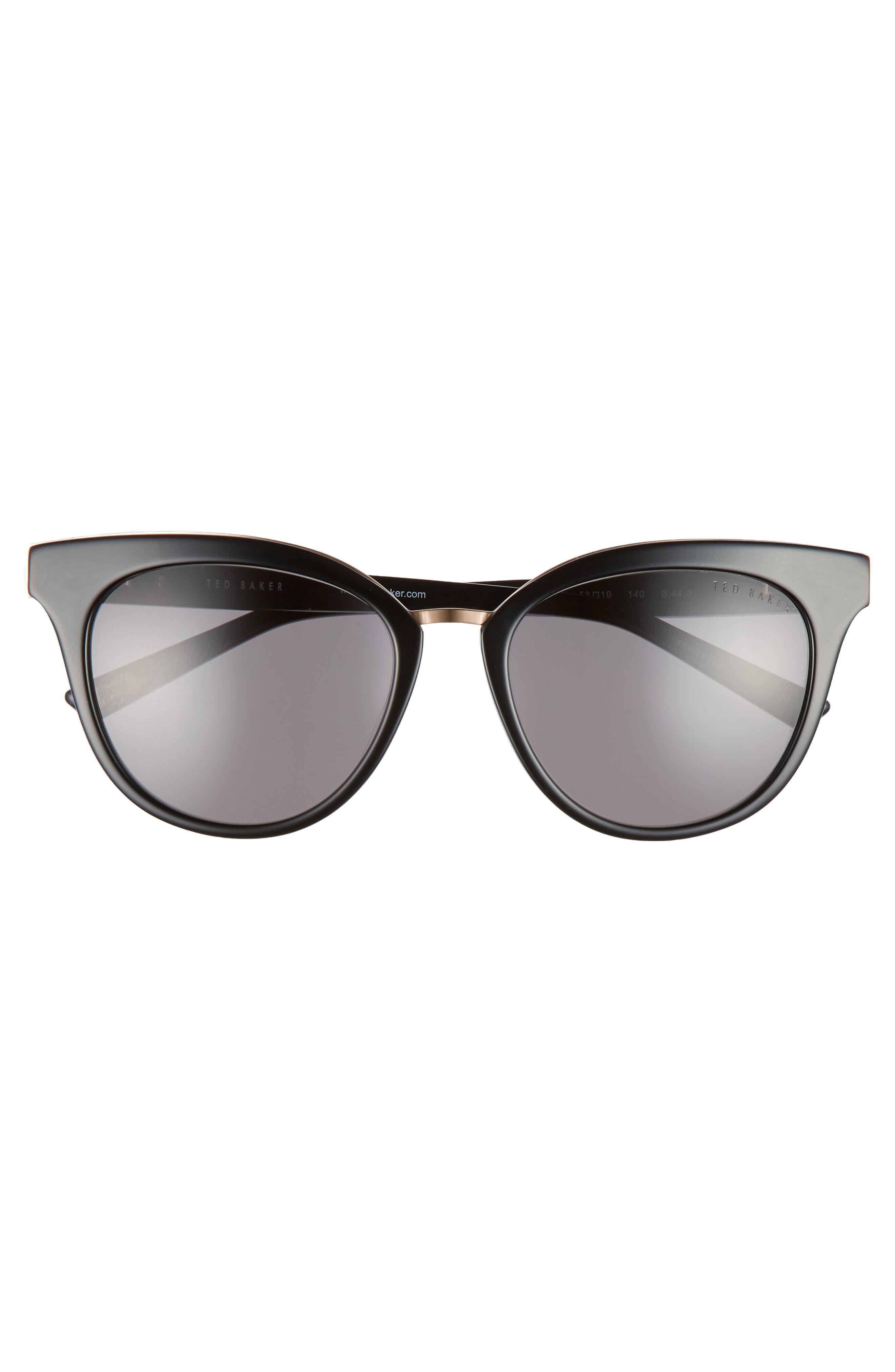 53mm Cat Eye Sunglasses,                             Alternate thumbnail 3, color,                             001