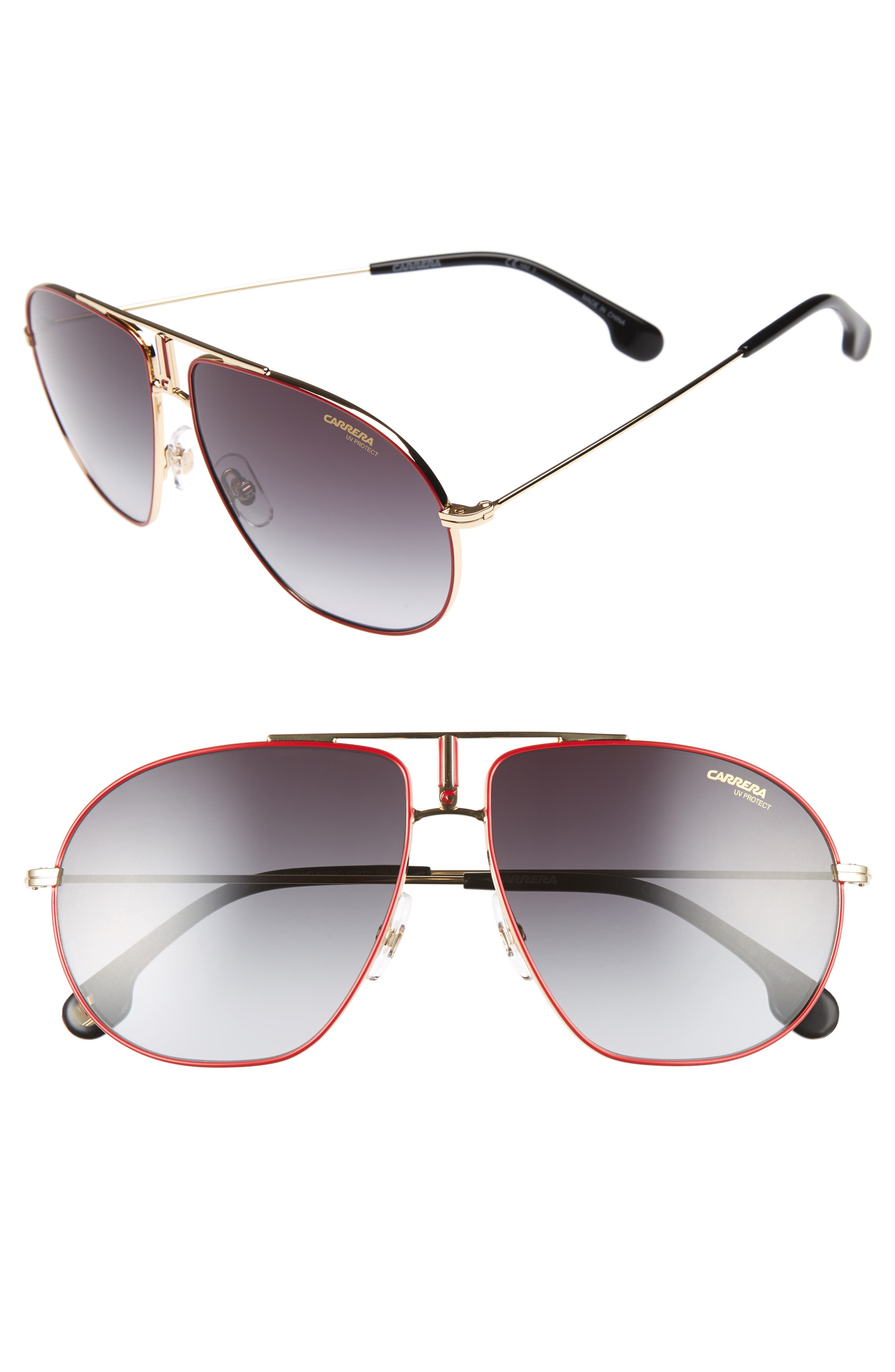 Carrera Bound 62Mm Sunglasses - Red Gold