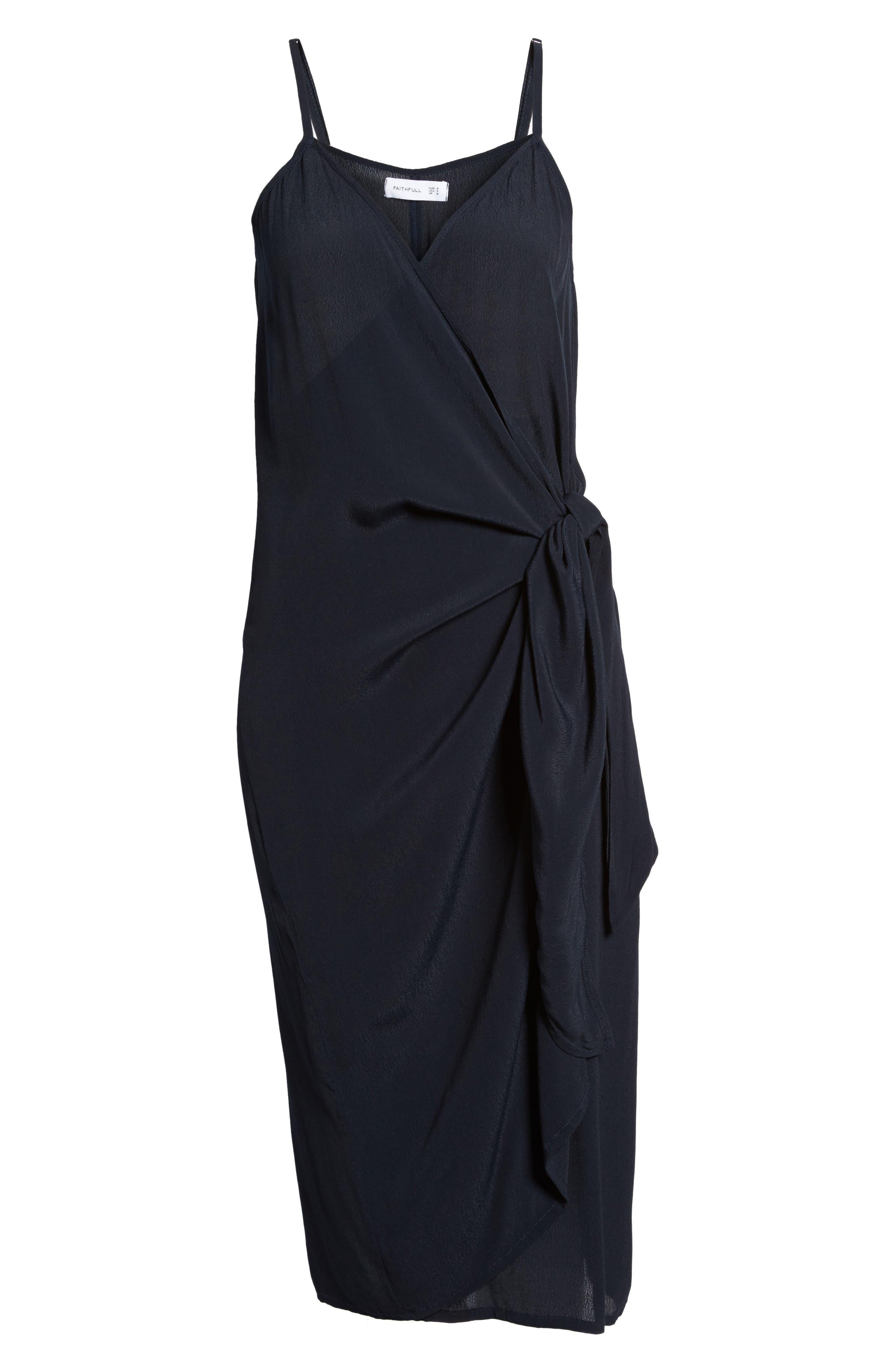 Juel Side Tie Midi Dress,                             Alternate thumbnail 7, color,                             400