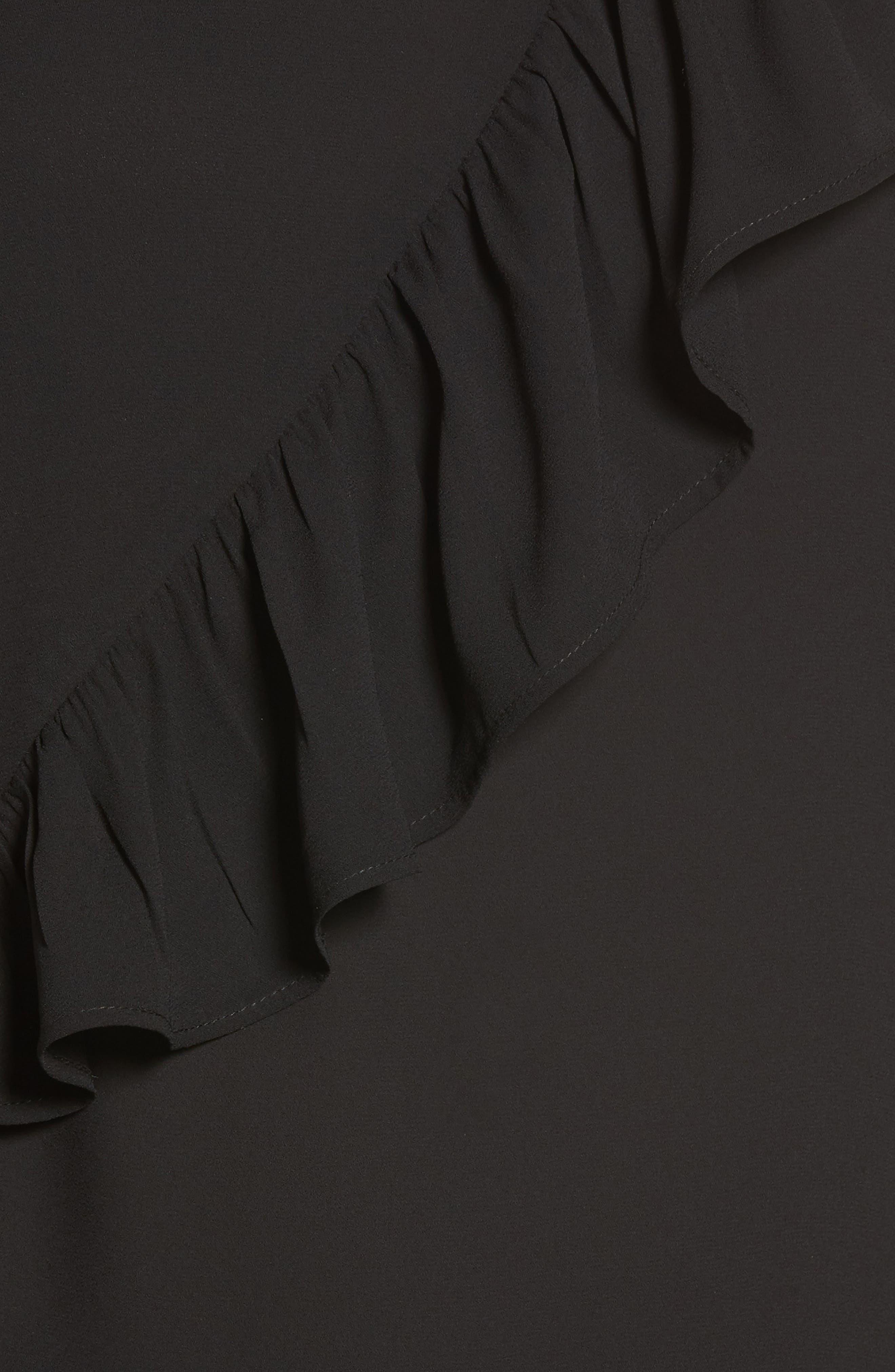 Ruffle Detail Top,                             Alternate thumbnail 5, color,                             001
