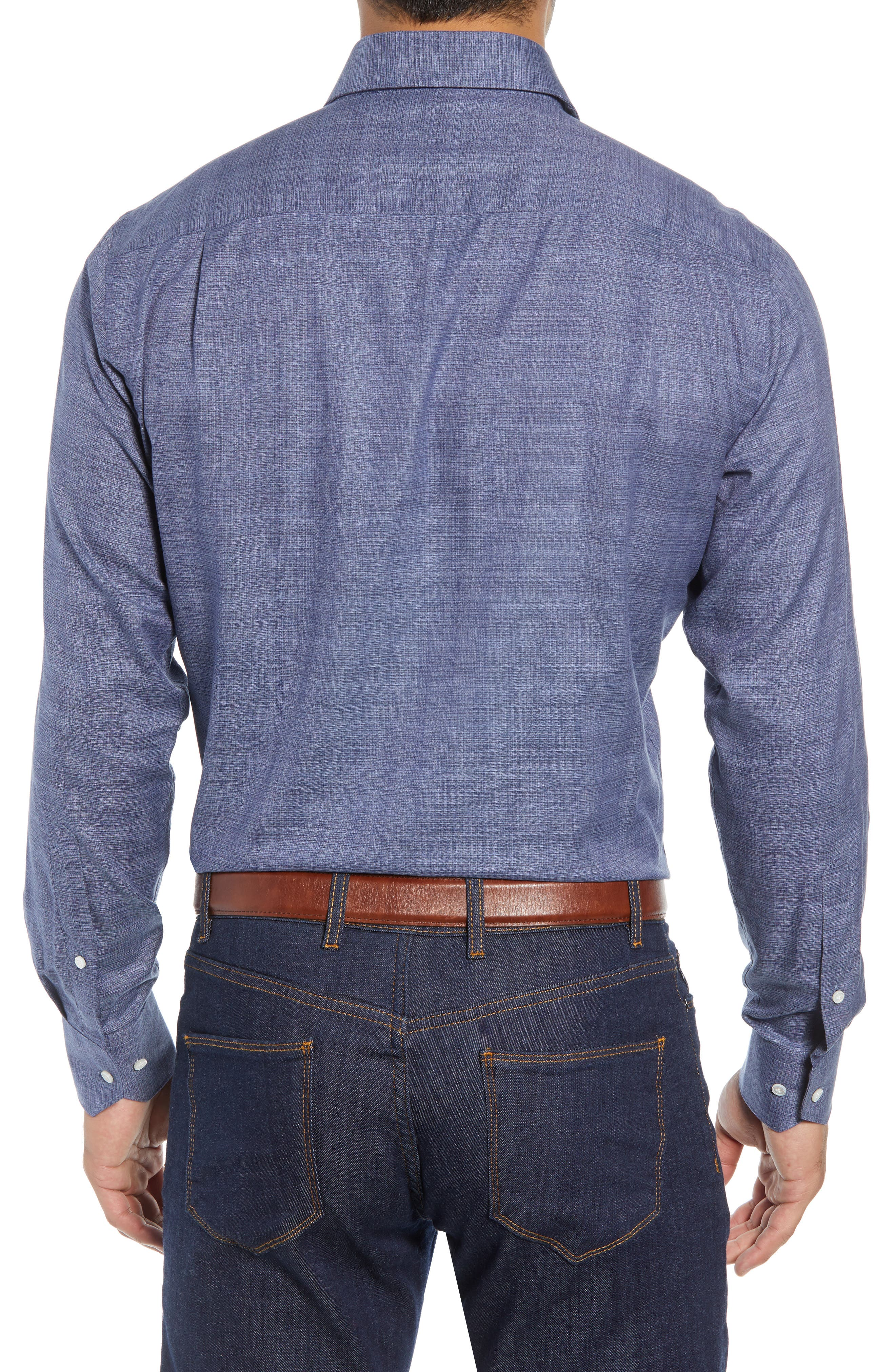 Starlight Regular Fit Chambray Sport Shirt,                             Alternate thumbnail 3, color,                             417